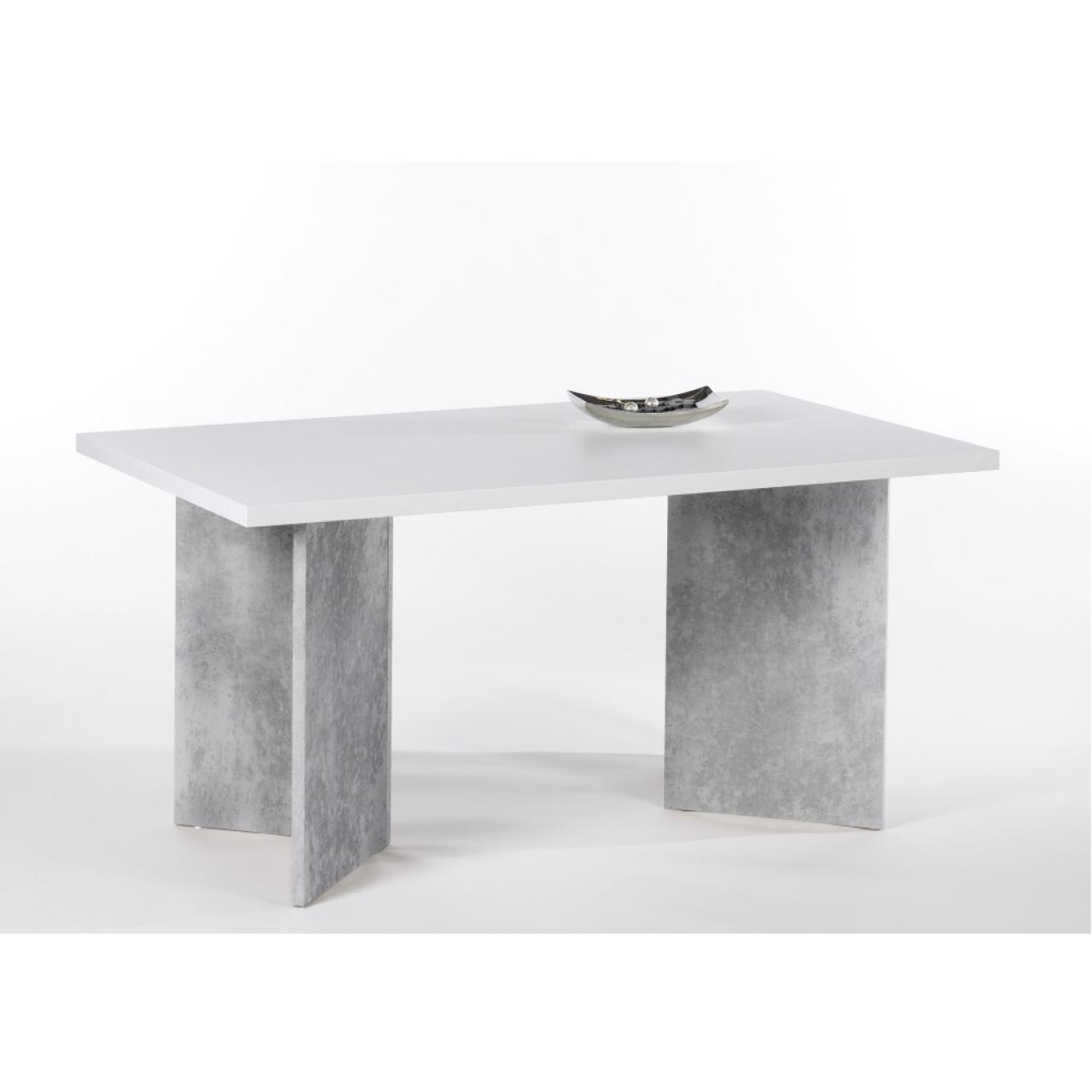 Tisch Wolfi Weiss Beton