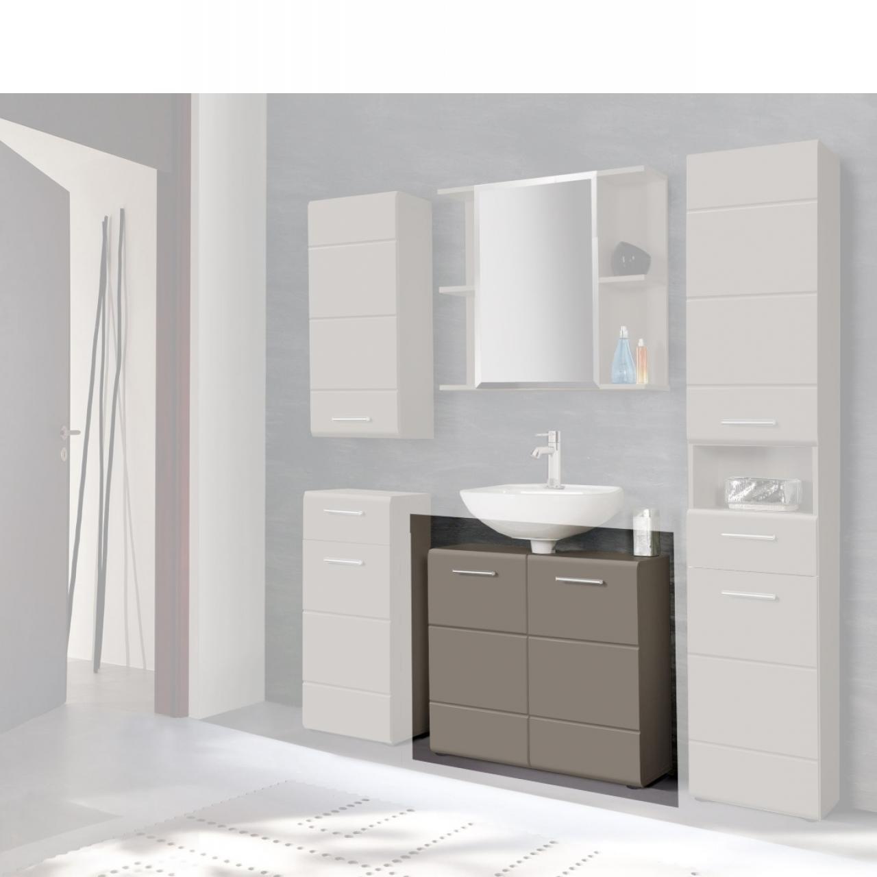 Waschbeckenunterschrank Salve - Grau