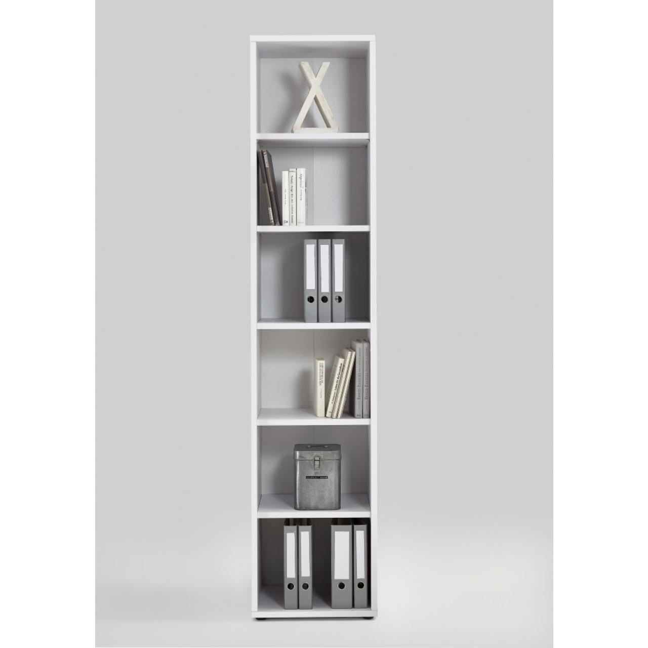 Bücherregal Calvia 6, 47 cm Breit Regal Standregal Wandregal Büroregal