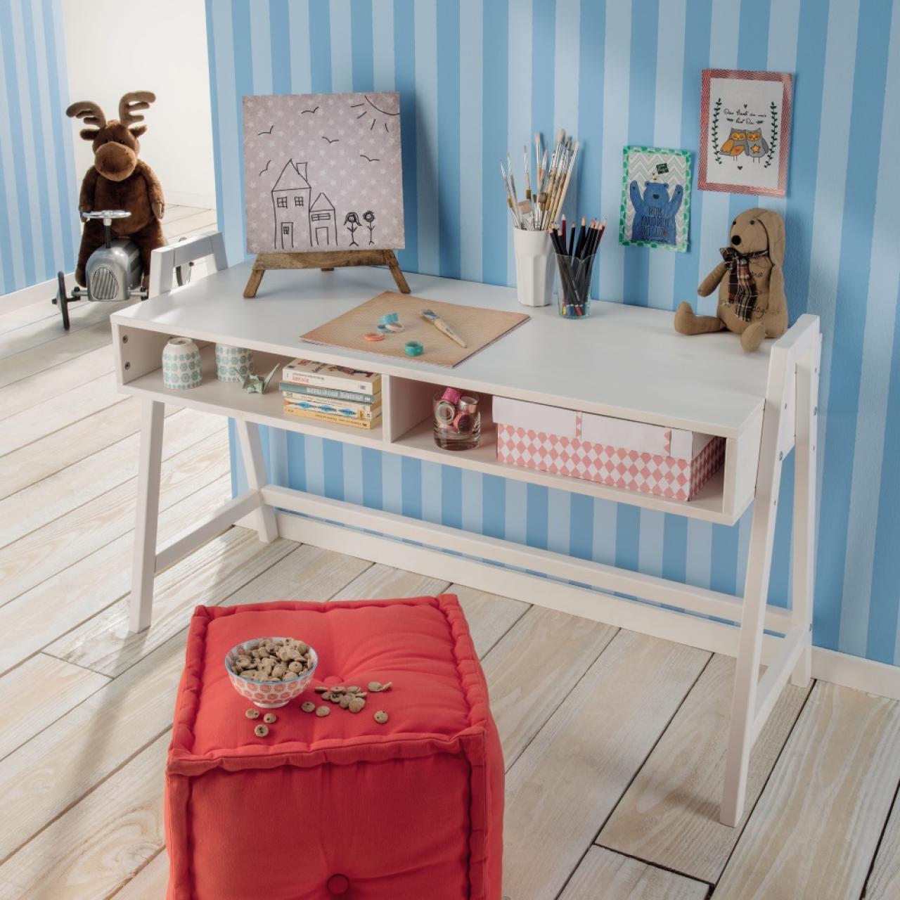 Schreibtisch 814 - Kiefer Weiß