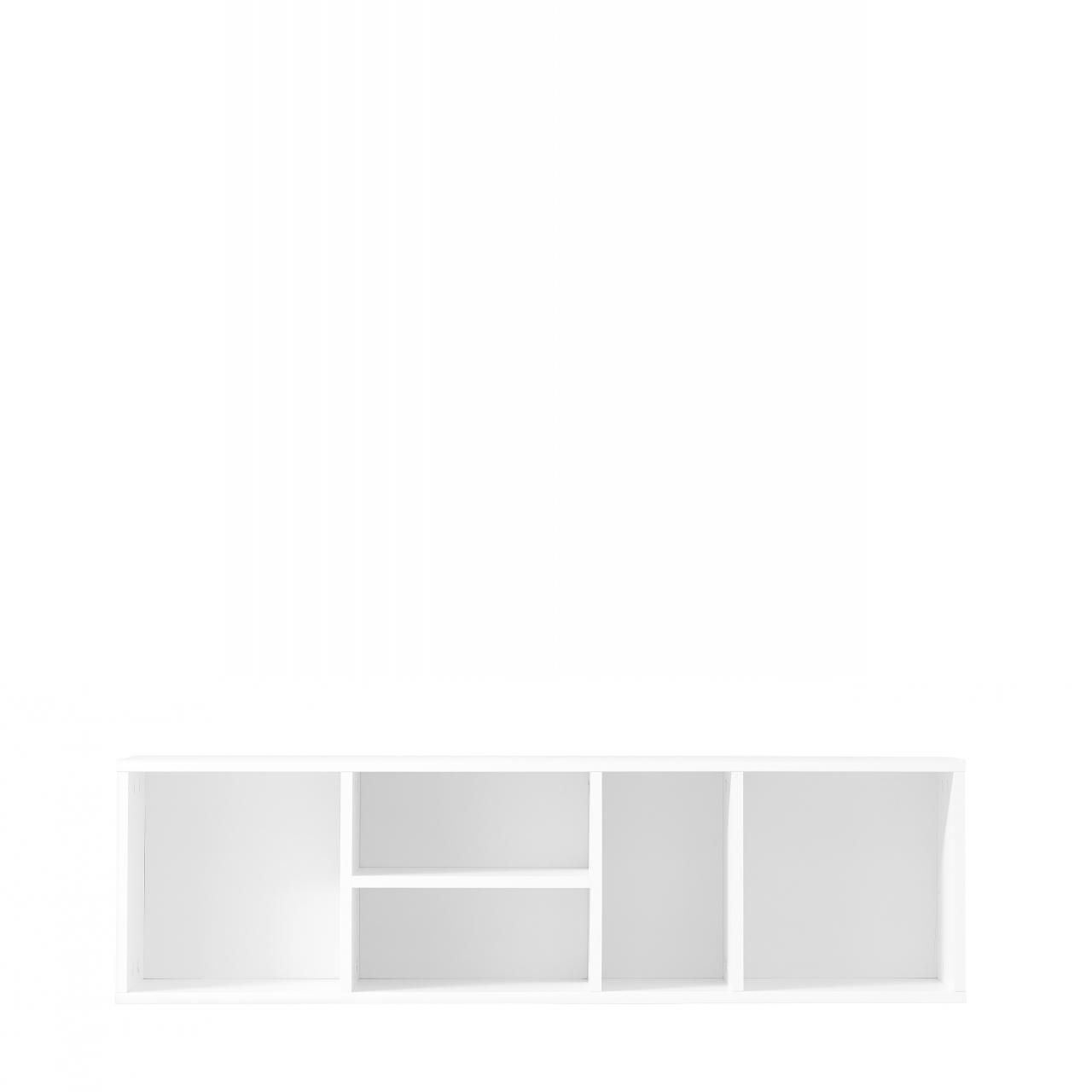 Regal K2 Wandregal 5 Fächer MDF Weiß Lack Matt
