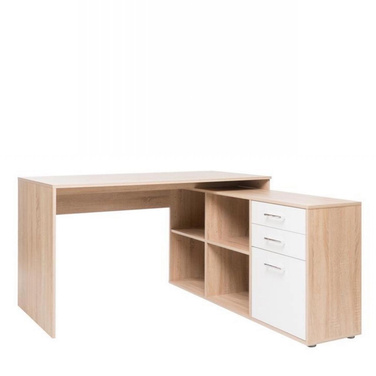 Schreibtisch London Weiß - Sonoma Eiche
