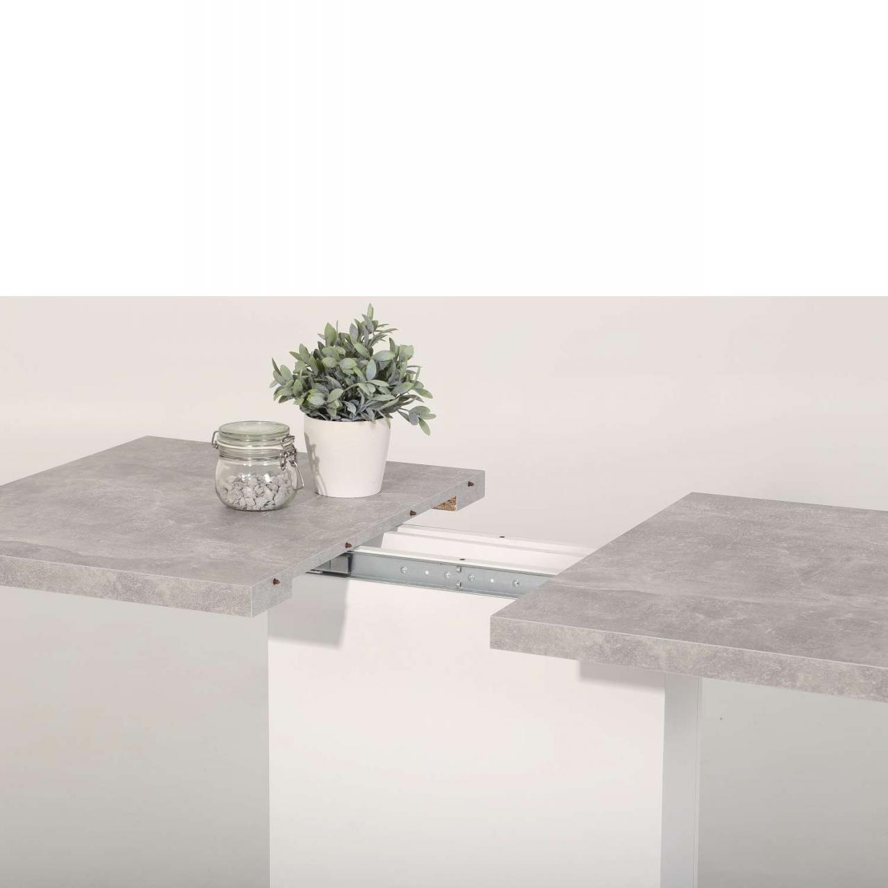 Esstisch Britt Mit Auszug In Weißbeton Esstische Esszimmer