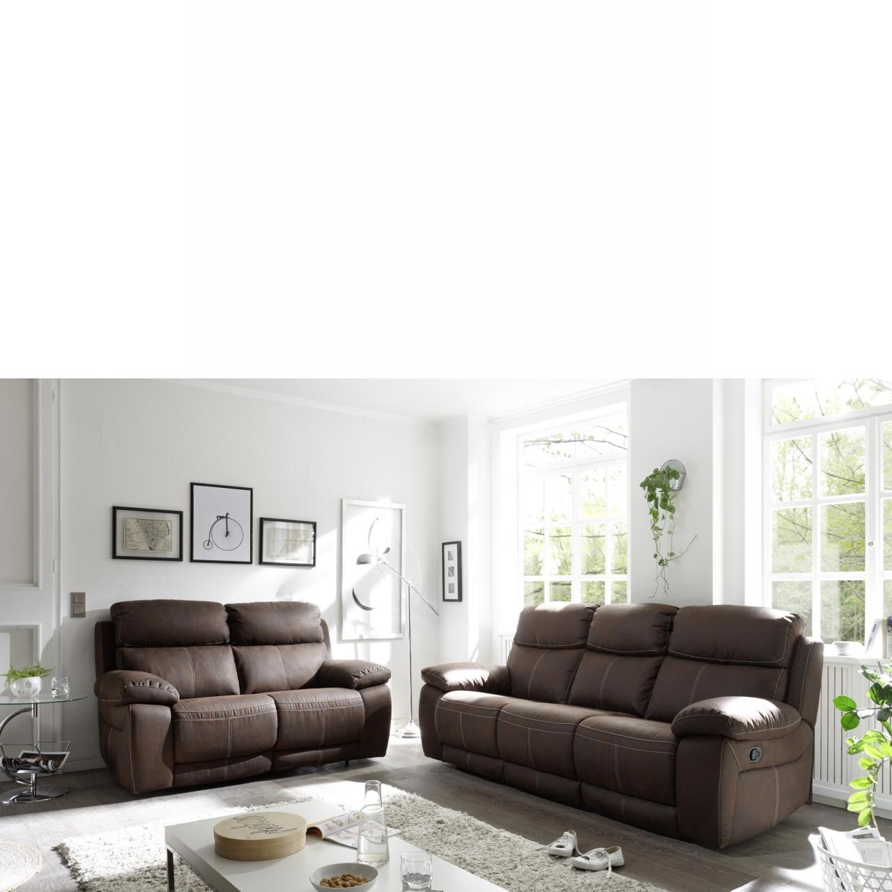 polstergarnitur verona 2s dark brown 2 er sofa. Black Bedroom Furniture Sets. Home Design Ideas