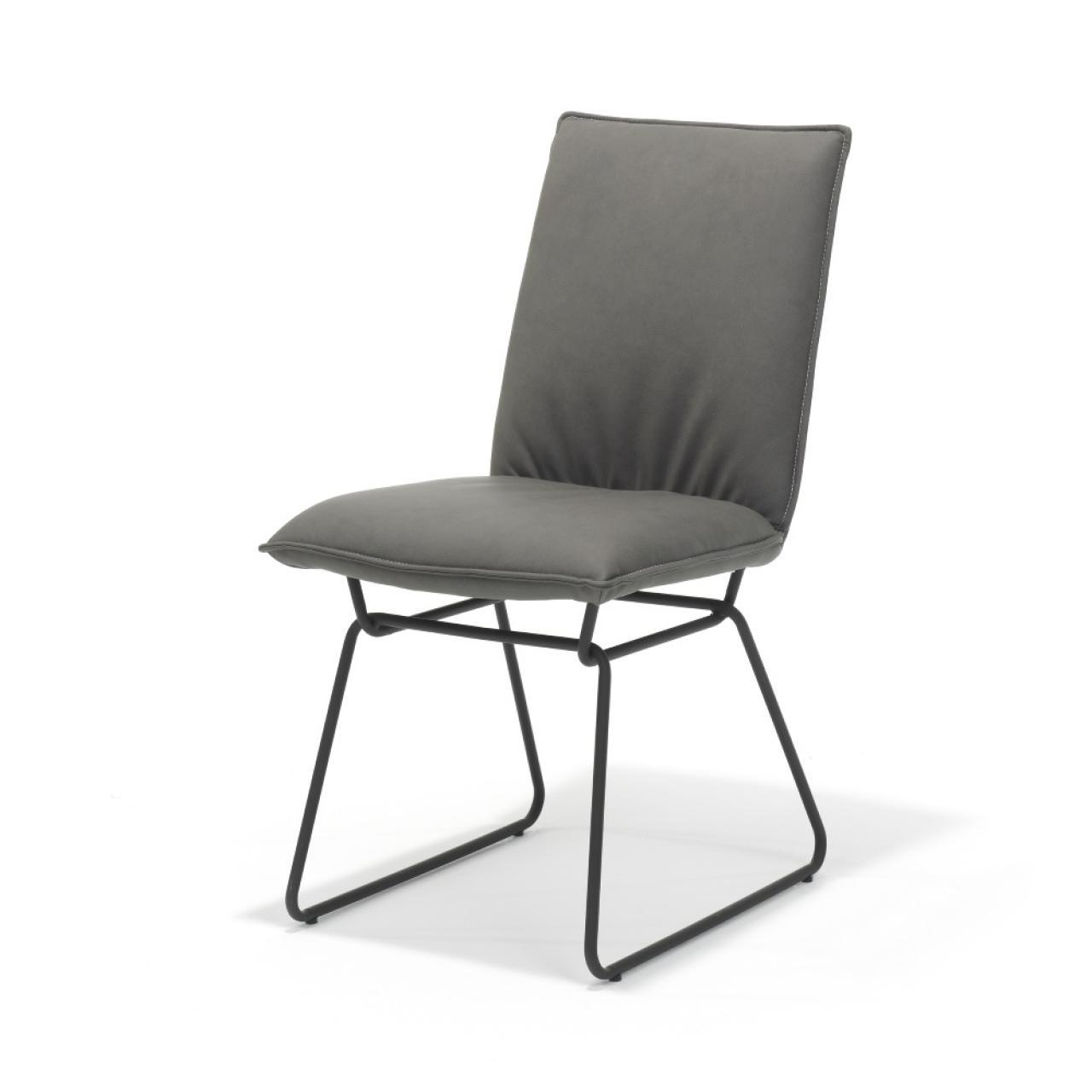 Esszimmerstuhl Flair taupefarben mit schwarzen Gestell Stuhl Küchenstuhl