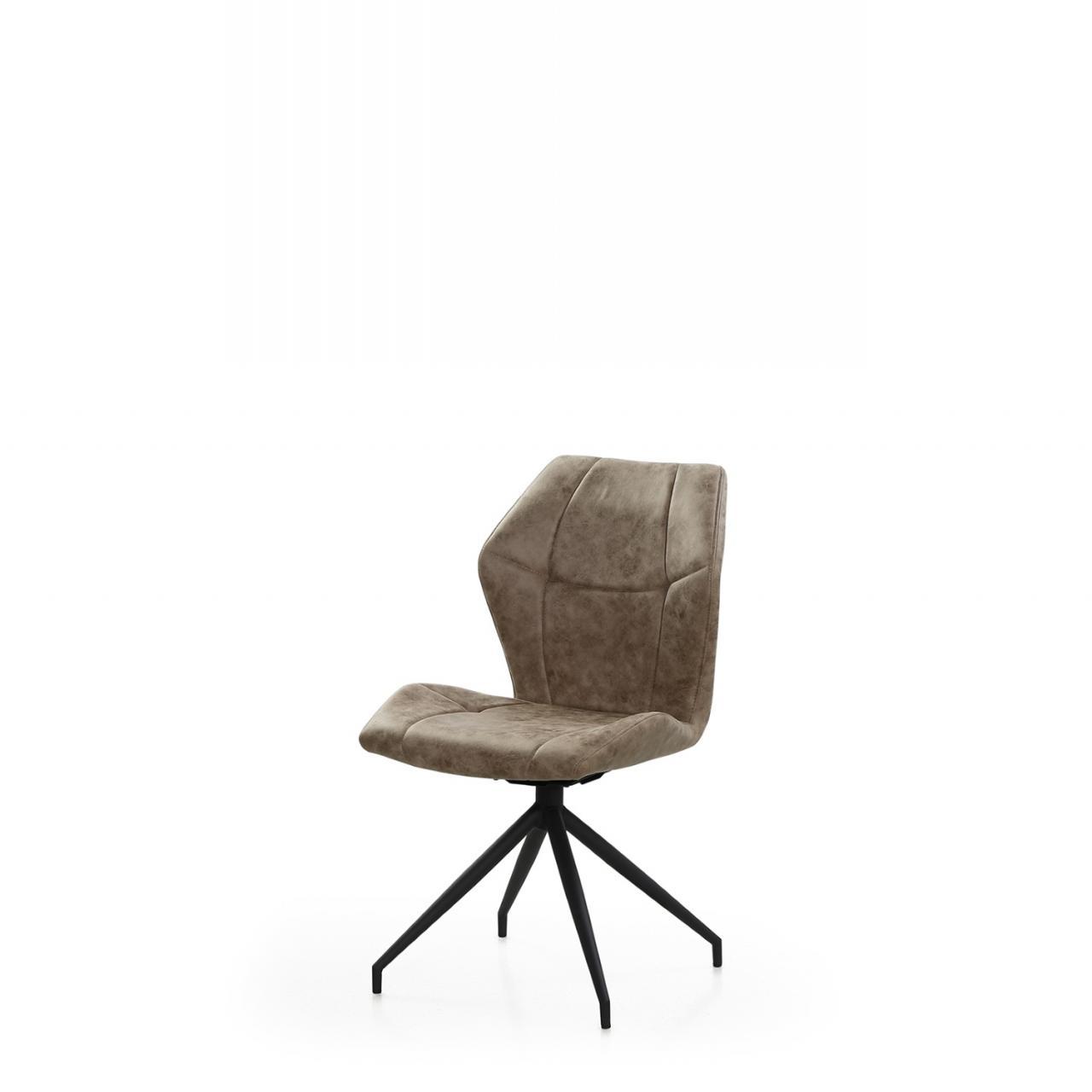Stuhl Emilio Vintage Grau Braun Drehbar Polsterung Metall Esszimmer Stuhle Hocker Esszimmer Wohnen Mobel Jahnichen Center Gmbh