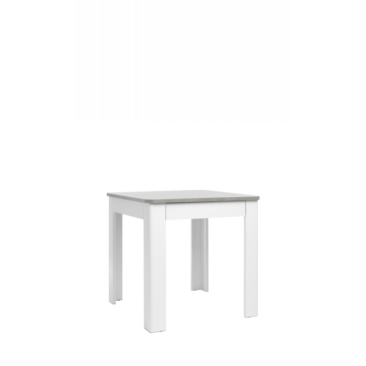 esstisch oslo beton weiss 80x80 cm 1 schubkasten m bel j hnichen center gmbh. Black Bedroom Furniture Sets. Home Design Ideas