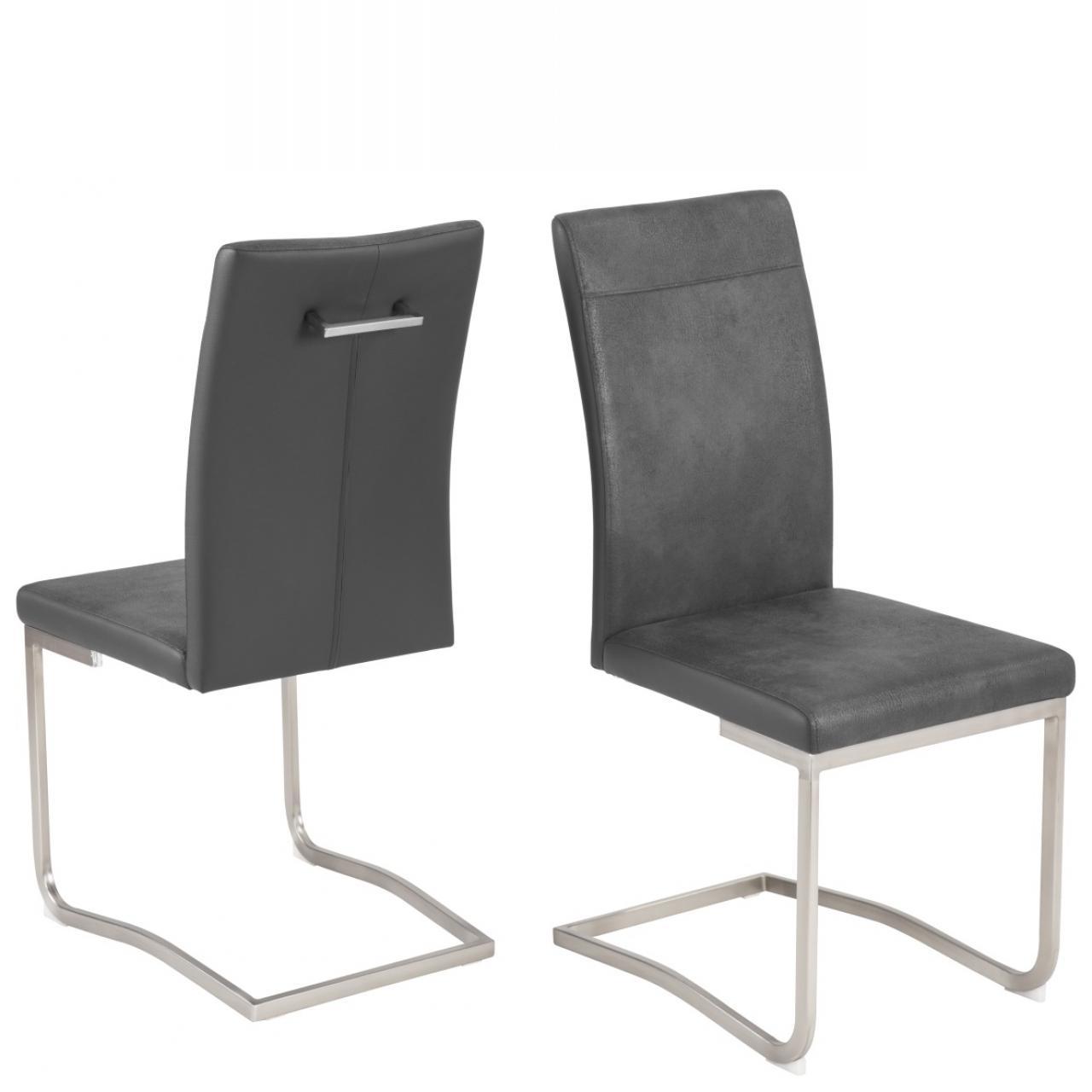 Schwingstuhl ronja schwarz grau st hle hocker for Schwingstuhl schwarz