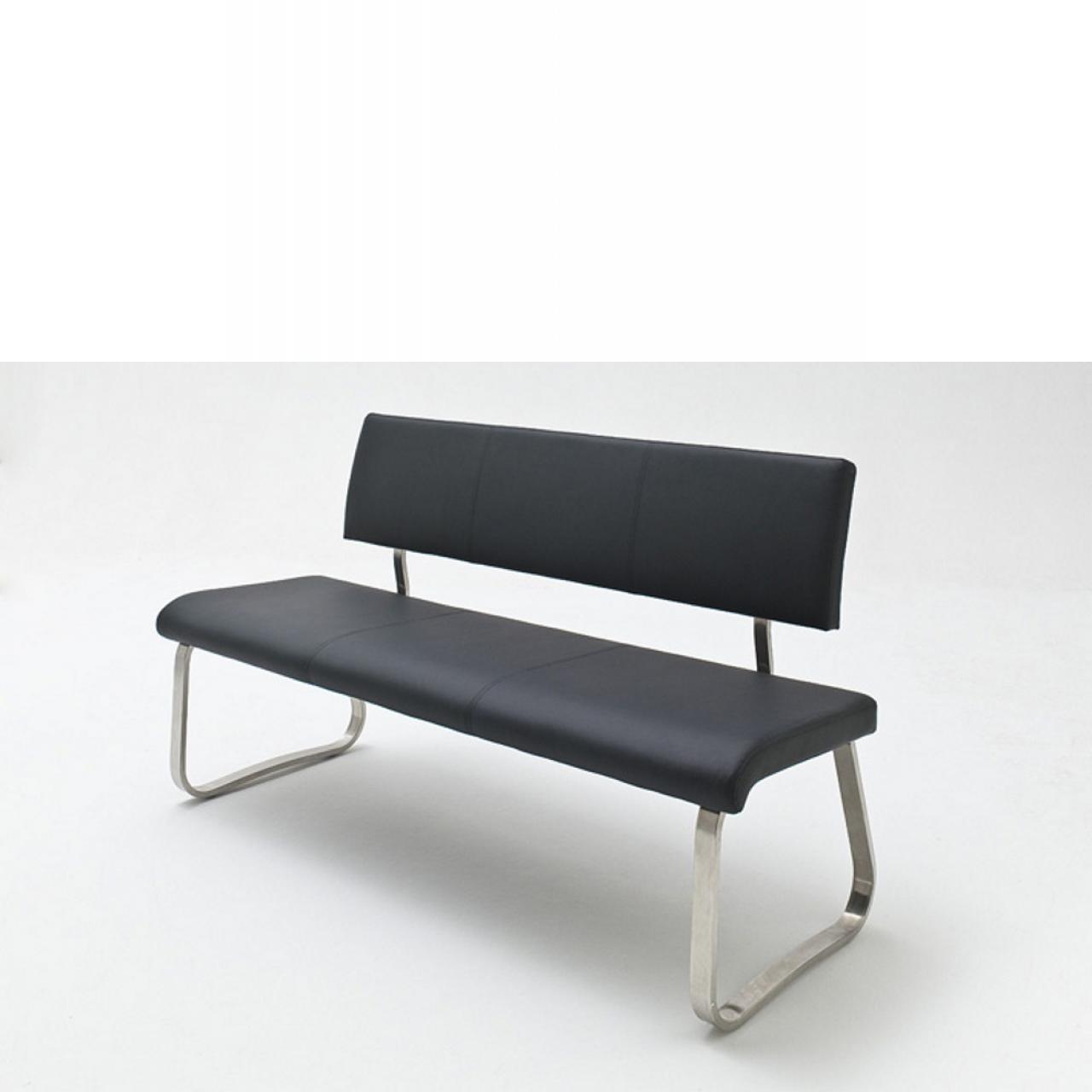 Sitzbank Arco in Schwarz 175x59