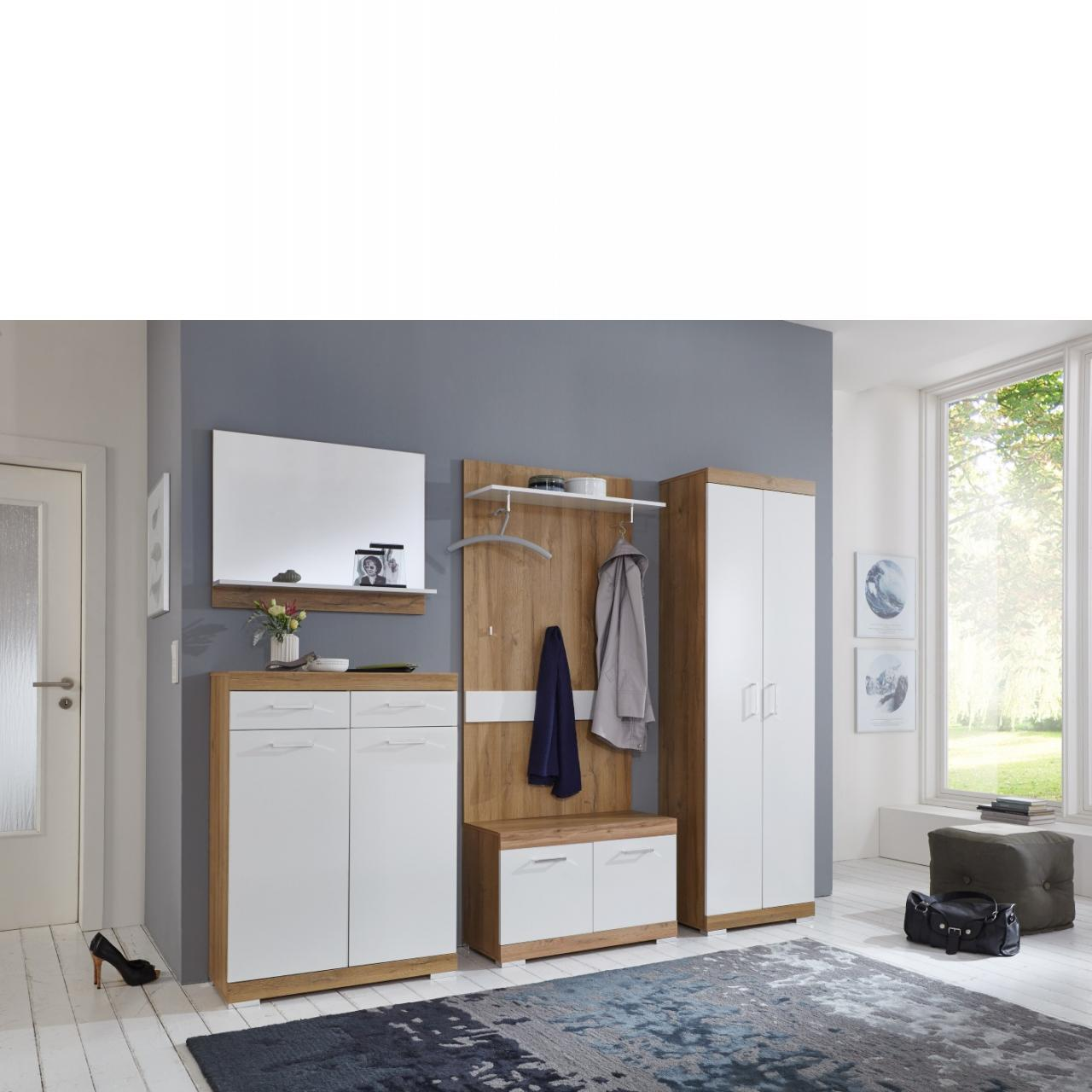 garderobenbank juno wei 2 t ren 80 cm breit m bel j hnichen center gmbh. Black Bedroom Furniture Sets. Home Design Ideas