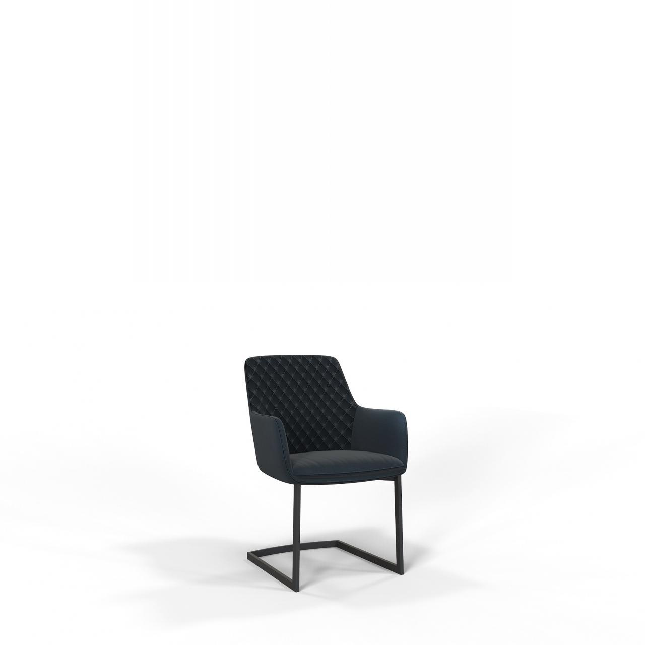 Stuhl JD0935 Schwarz Anthrazit Stoff Metall Esszimmerstuhl Mit Armlehne Küchenstuhl Küche