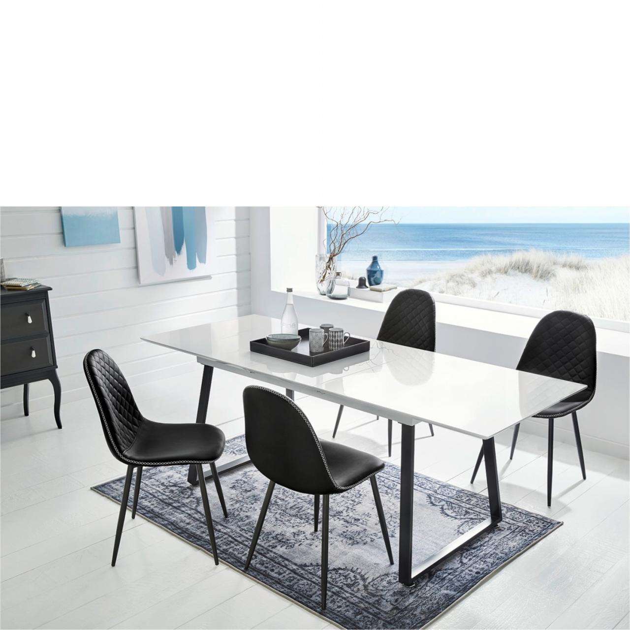 Stuhl Usedom - schwarz