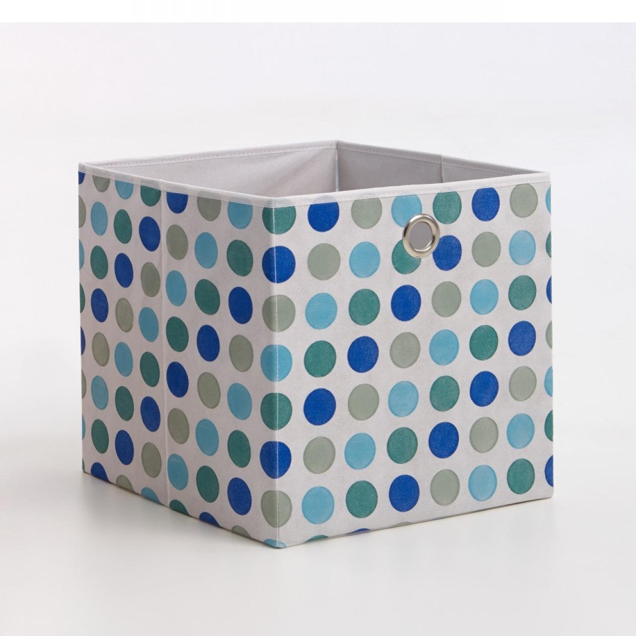 Faltbox Mega 3 gepunktet blau