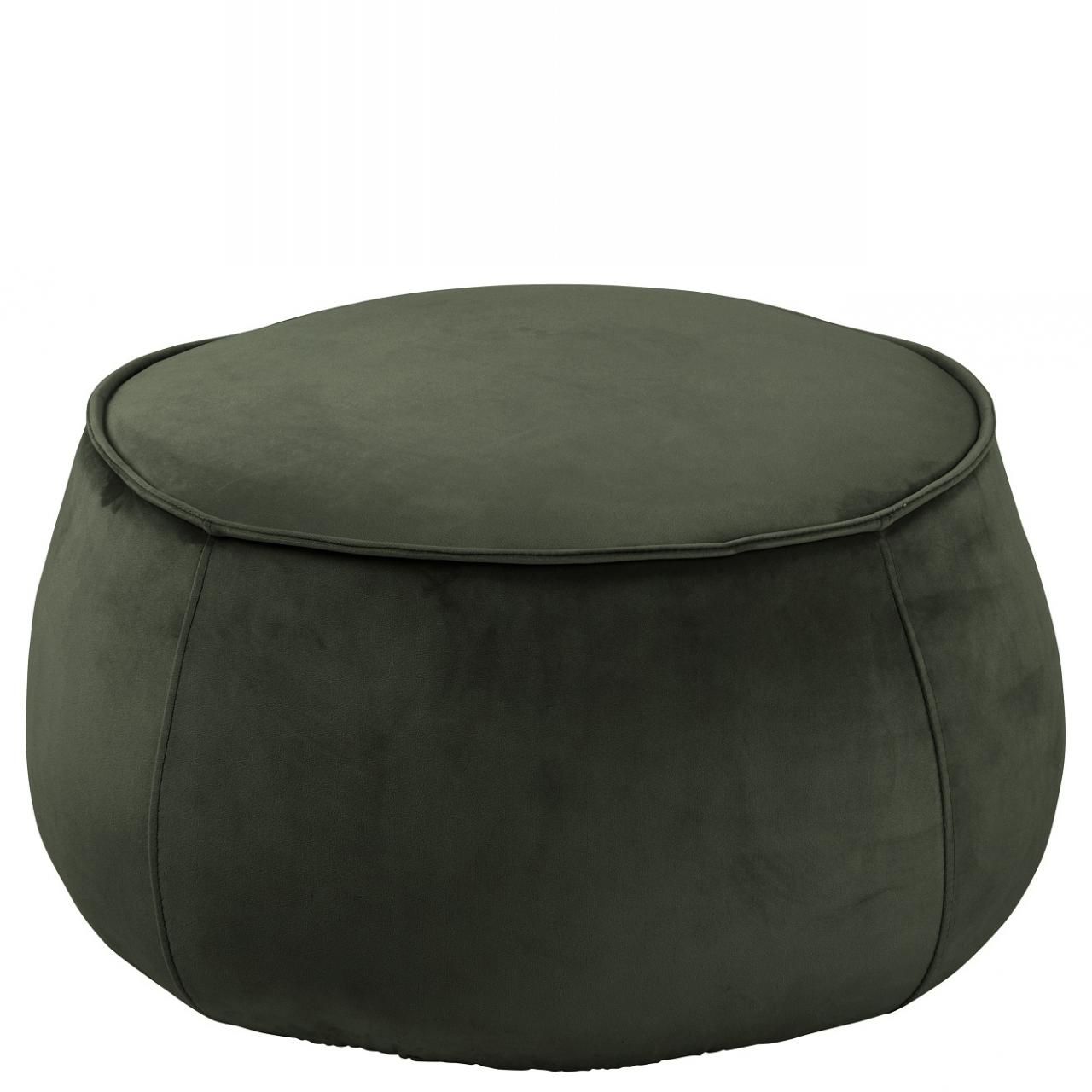 Hocker Mie VIC Stoff Dunkelgrün Sitzhocker Sitzkissen Polsterhocker