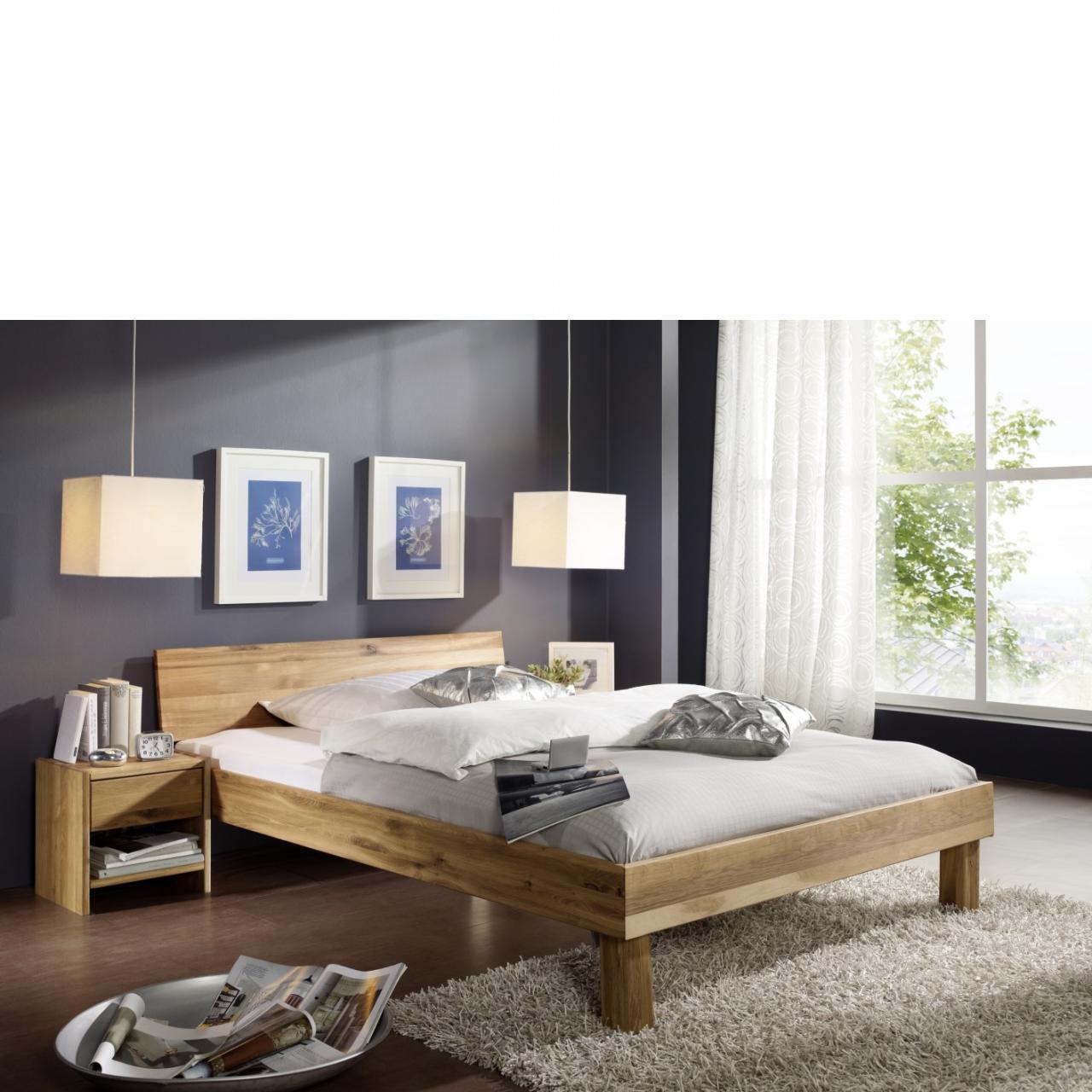 Bett Campino A Kopfteil Geschlossen Kernbuche Massiv 180x200 Schlafzimmer