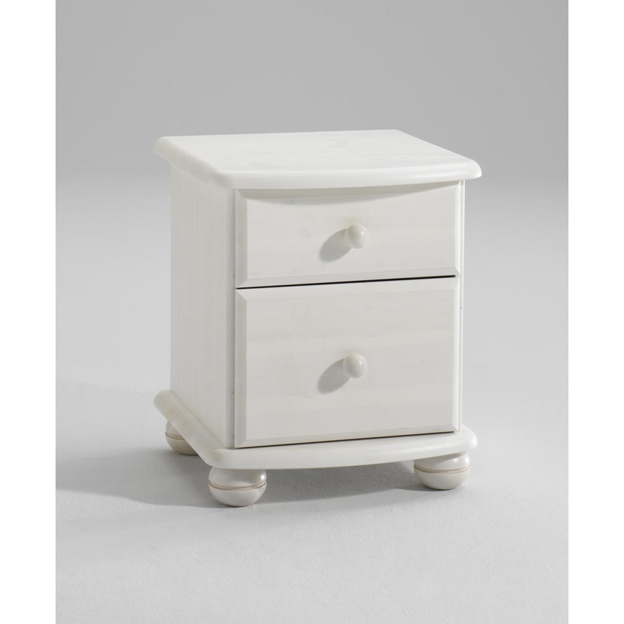Kommode Moby Weiß 2 Schubladen Bürokommode Bürocontainer Arbeitszimmer MDF