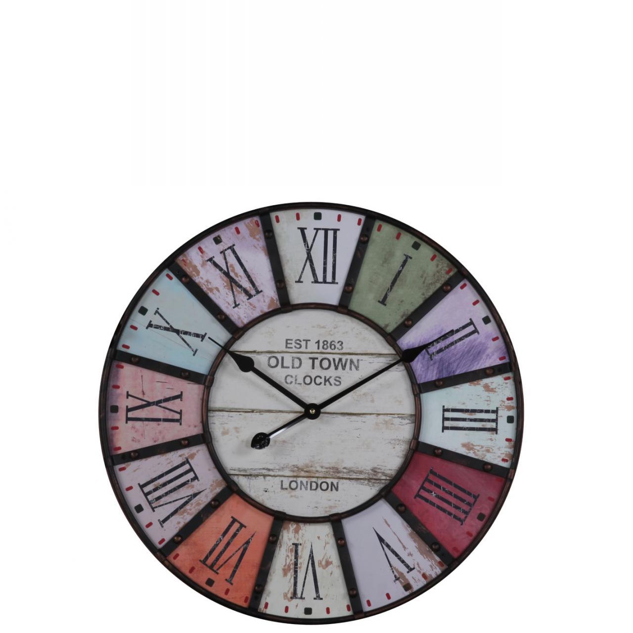 Uhr Cottage - mit Metallapplikationen