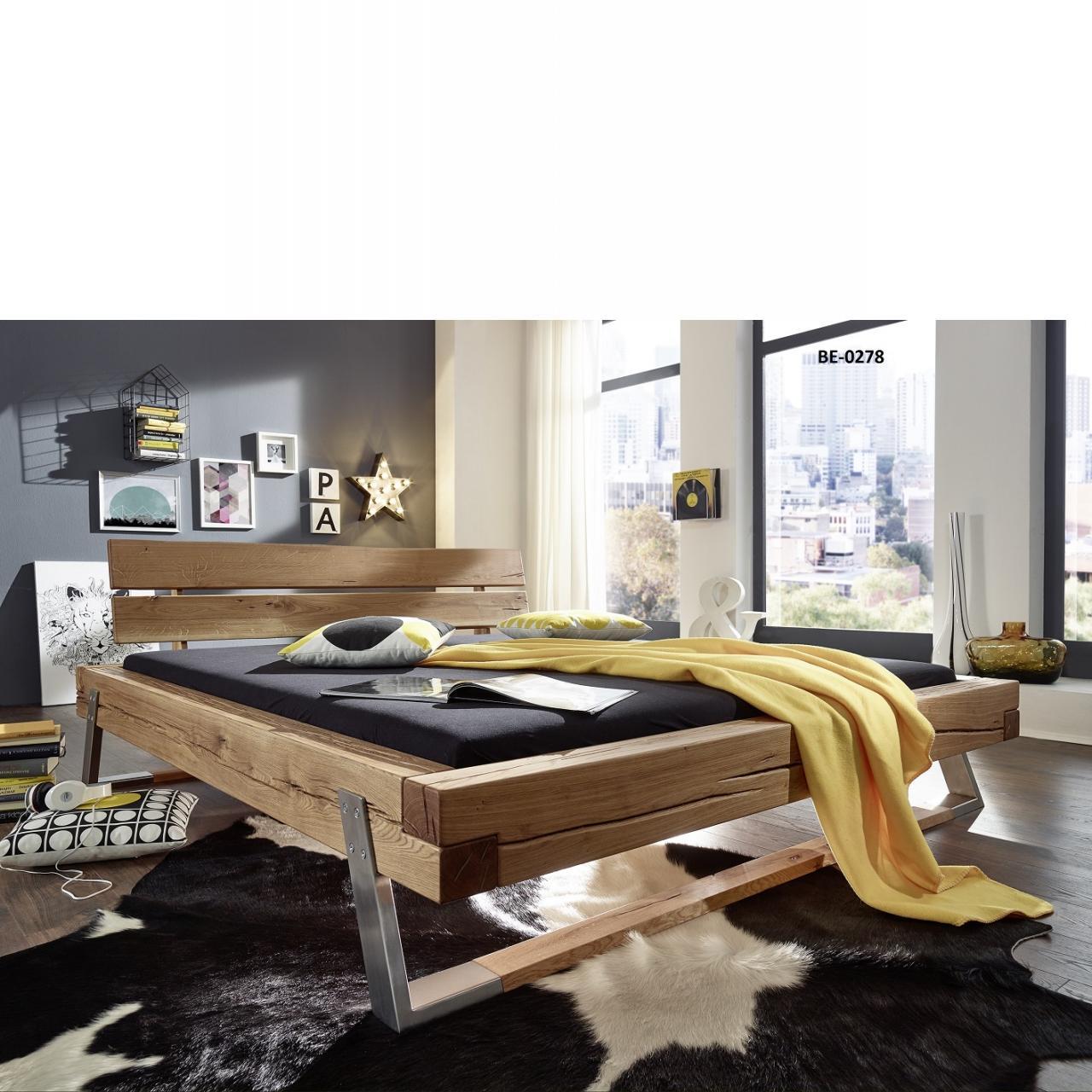 balkenbett be 0278 wildeiche massiv 180x200 cm m bel j hnichen center gmbh. Black Bedroom Furniture Sets. Home Design Ideas