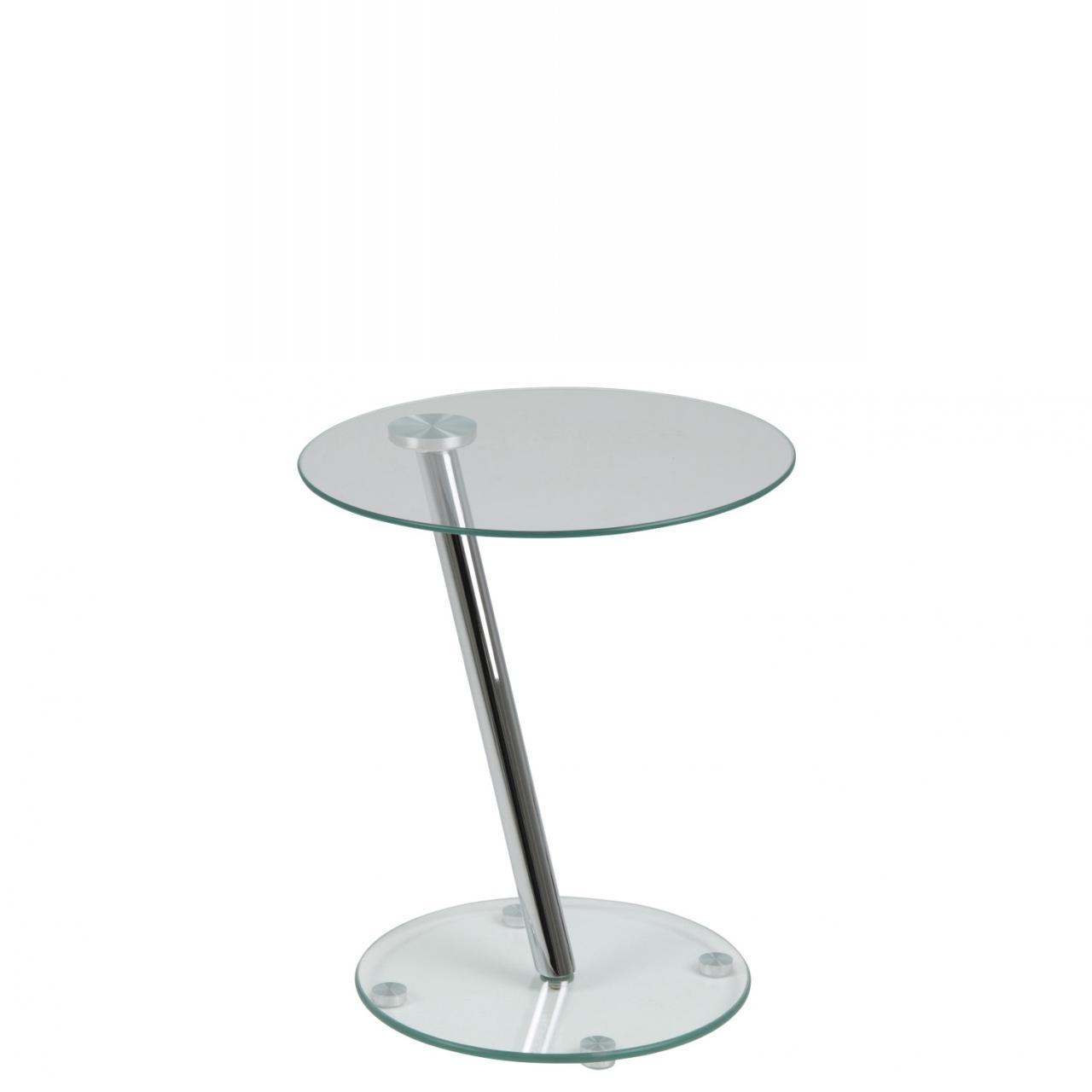 Beistelltisch glas chrom  Beistelltisch Dexter 71586 Glas Chrom Stubentisch Couchtisch Tisch Glasfuß