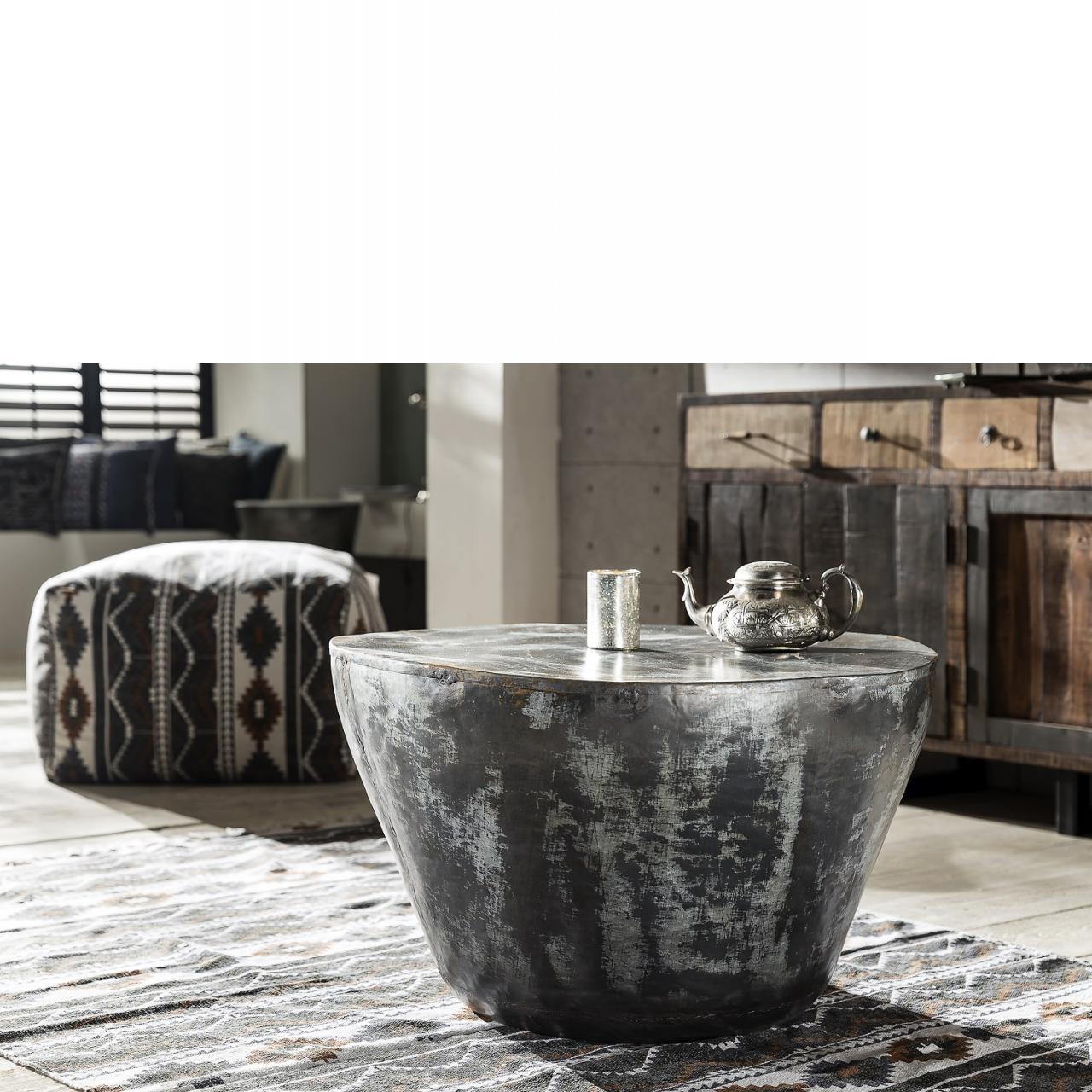 Couchtisch 97.086 Rund Eisen Stubentisch Tisch Beistelltisch Wohnzimmertisch