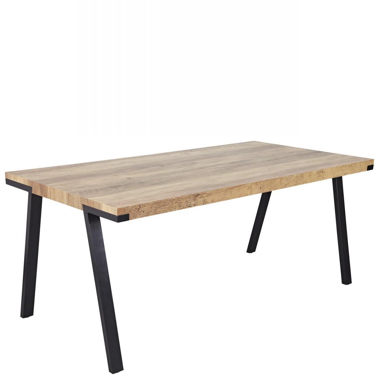 Esstisch Solano Eiche Antik Nb. Schwarz Tisch Küchentisch