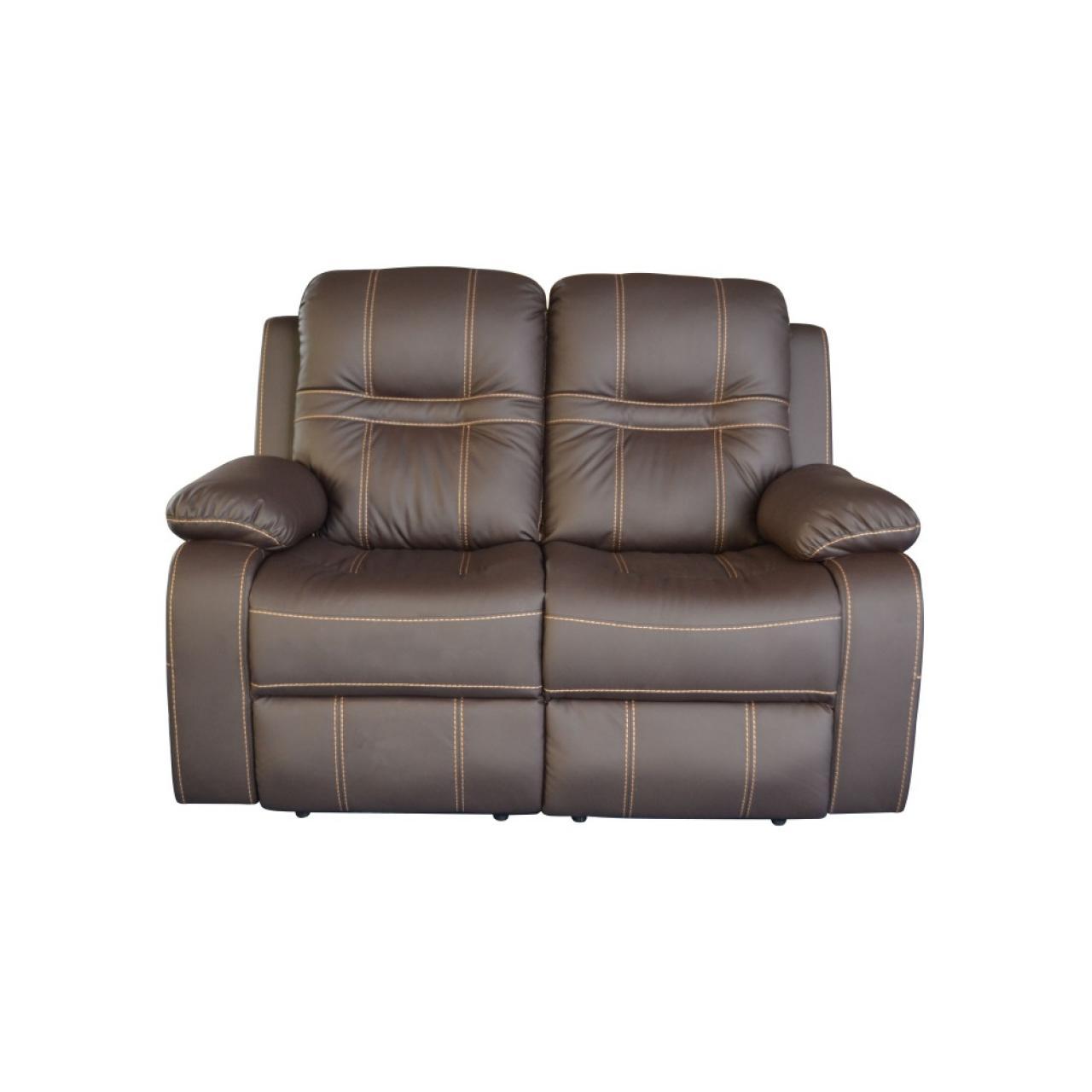2-Sitzer mit Relaxfunktion - Dark Coffee