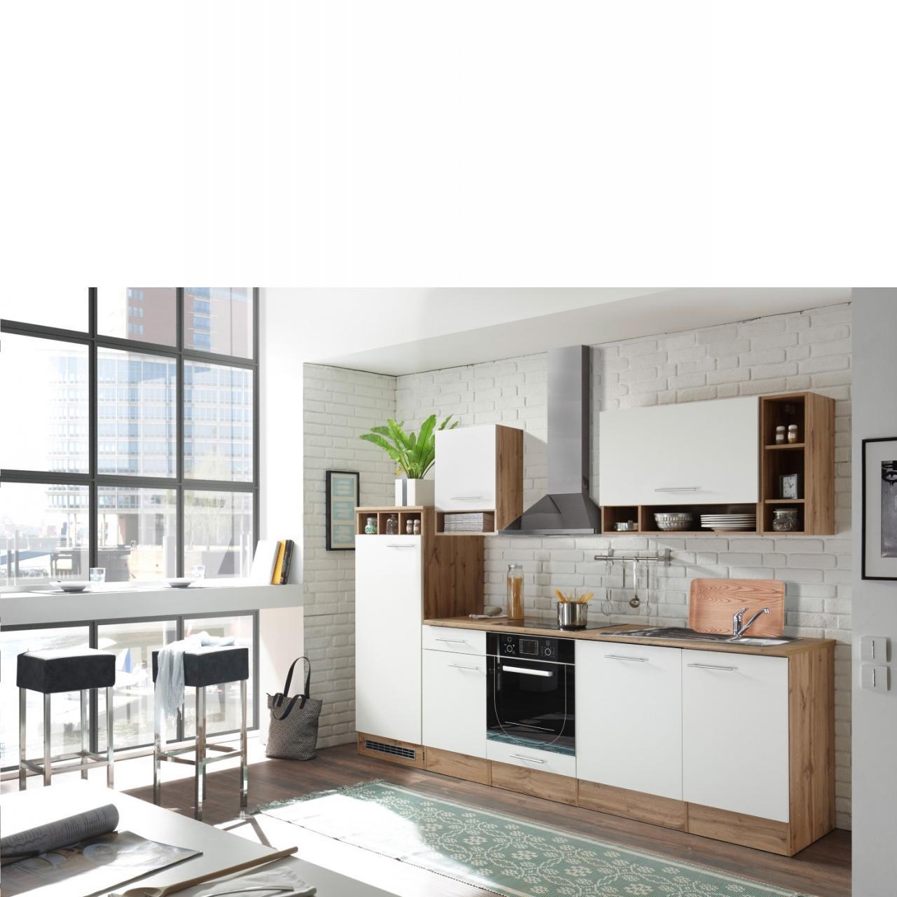 Küche Madeira 280 | Wildeiche Dekor - Weiß matt | Möbel Jähnichen ...