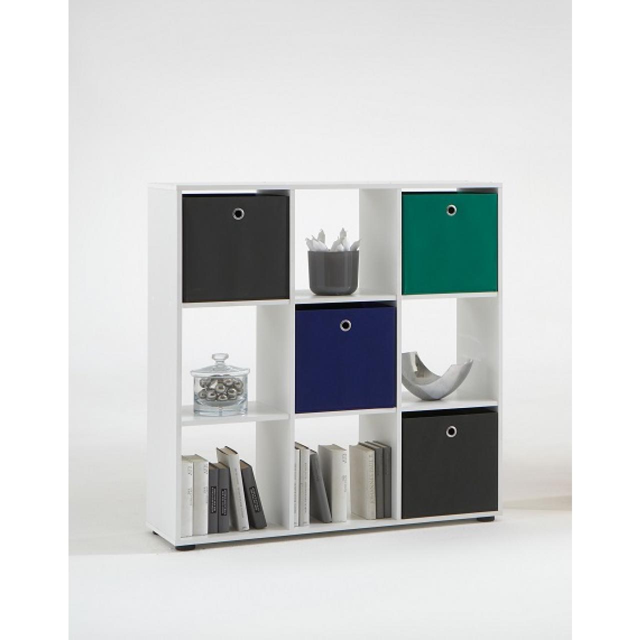 Raumteiler-Regal Mega 5 Weiß