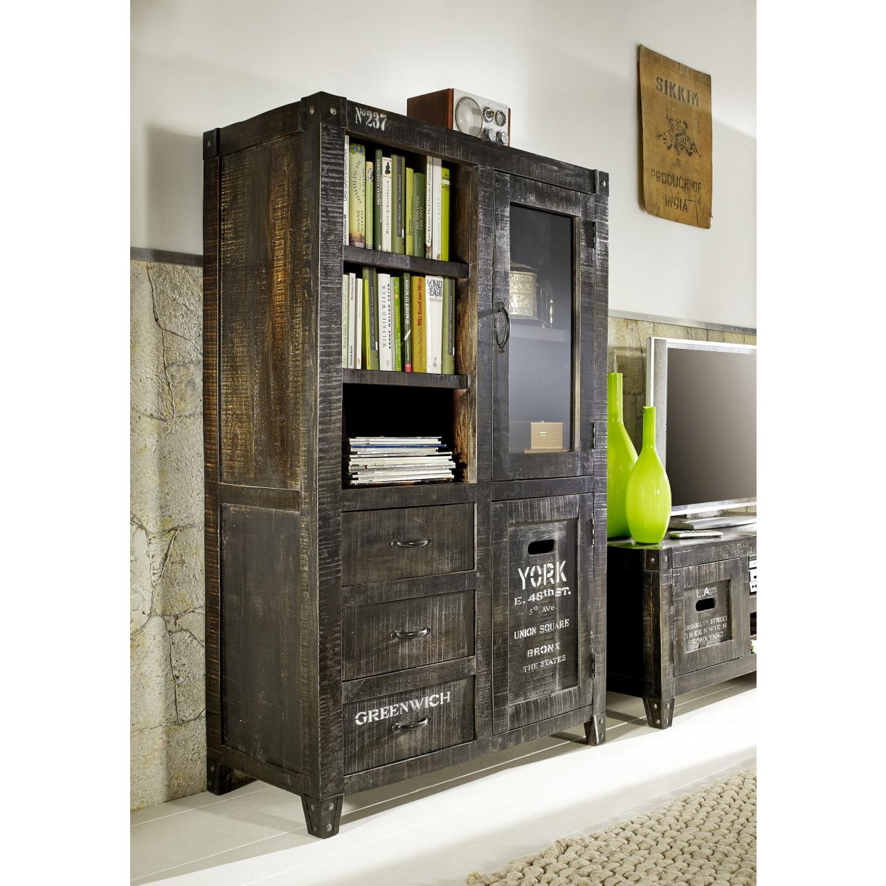 Highboard I - The States - Ash Grey