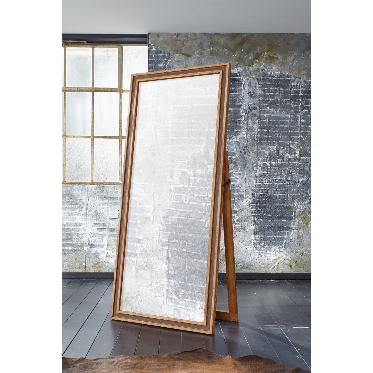 Spiegel Khan 6324 180x80x5 cm rechteckige Form Wandspiegel Indien