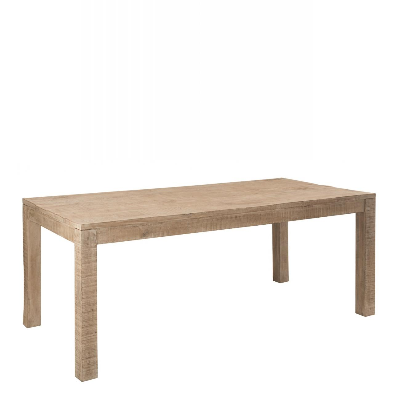Tisch Suri Mangoholz Massiv Antique Weiß Esstisch Esszimmertisch 140x90x76 cm