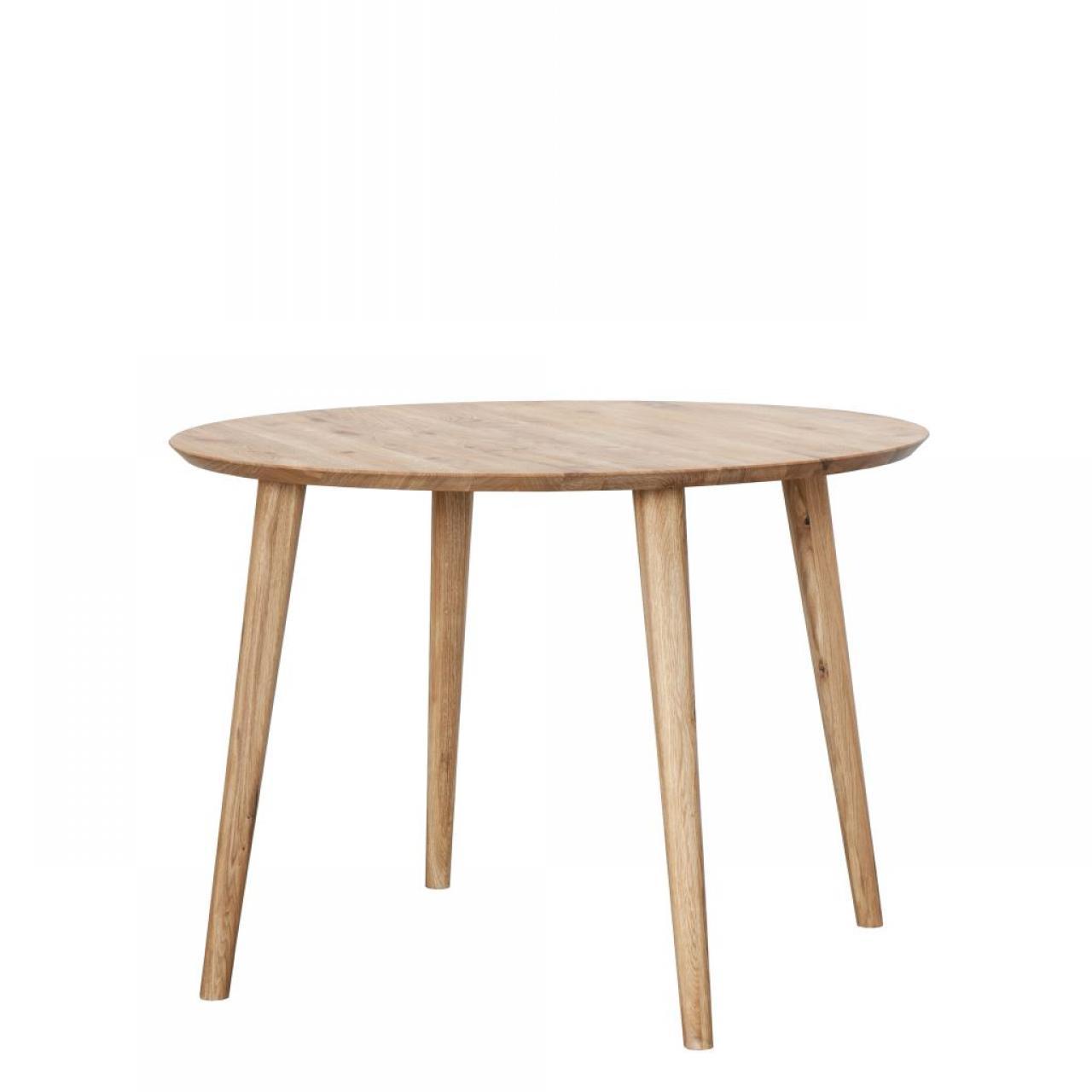 Esstisch TI-0076 Ø 105 cm Wildeiche massiv Rund 4 Tischbeine Küchentisch Tisch