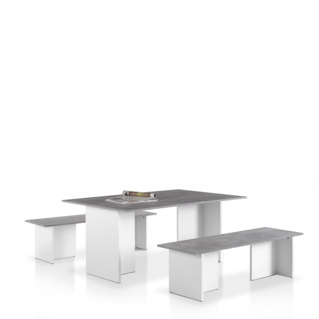 Tischgruppe Sergeant Beton | Esstische | Esszimmer | Wohnen | Möbel  Jähnichen Center GmbH