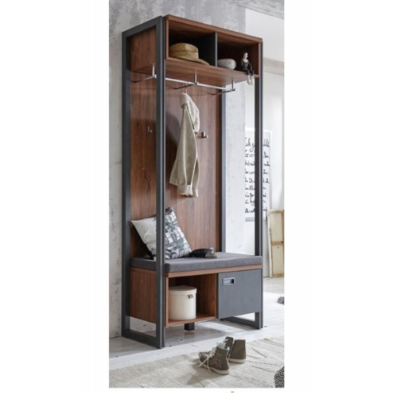 garderobe mit sitzkissen garderoben wohnen m bel j hnichen center gmbh. Black Bedroom Furniture Sets. Home Design Ideas