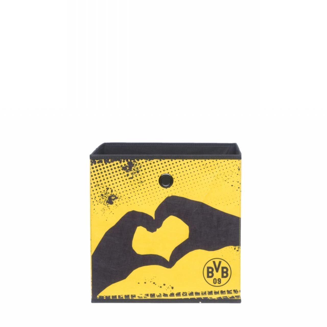 Faltbox mit Emblem und Herz Borussia Dortmund