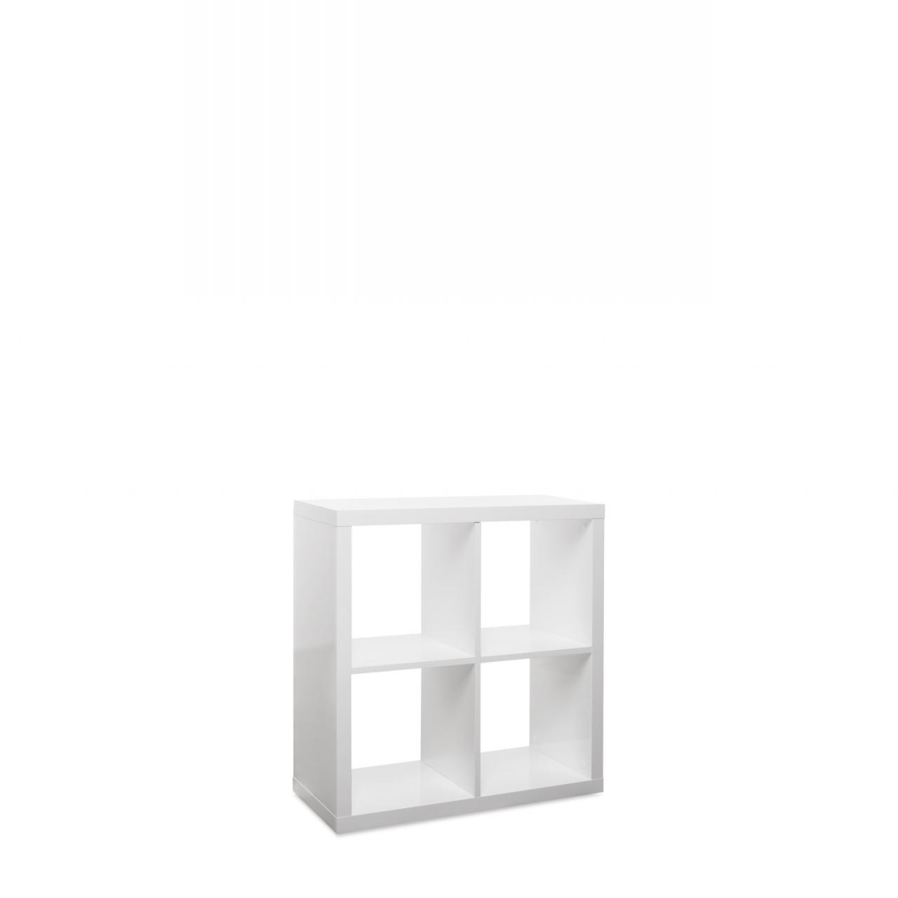 4er Würfel Milano 23 2736 Weiß Hochglanz Regal Aufbewahrung Bücherregal