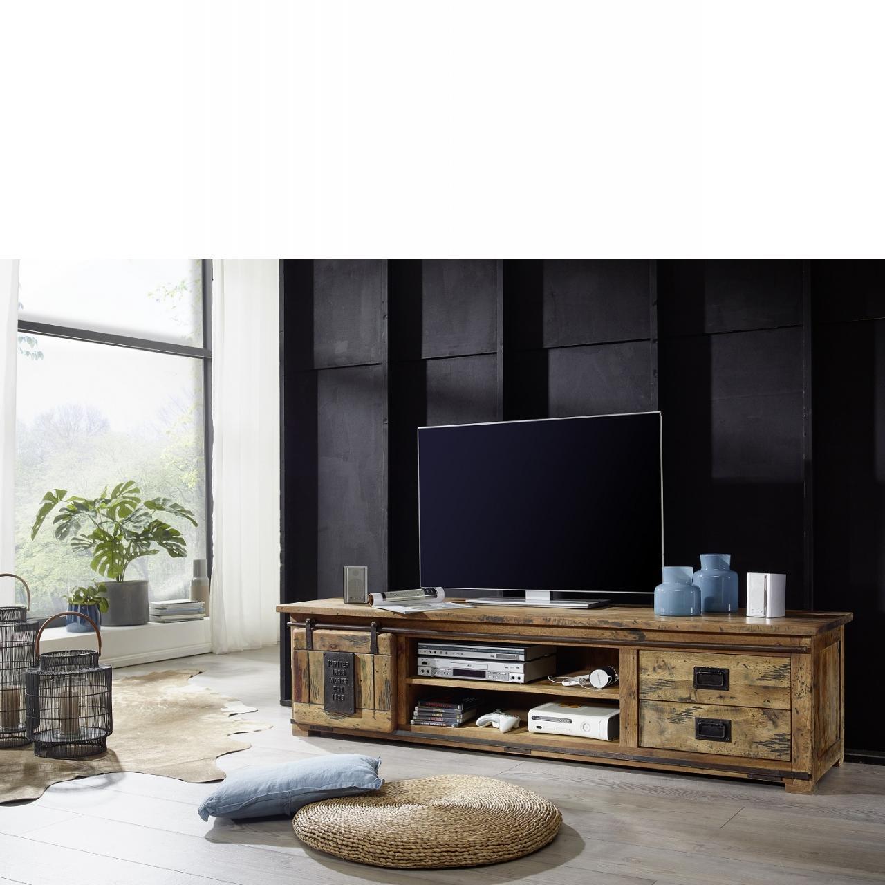 TV-Bord II WZ-0480 TV-Tisch Mangoholz Massiv TV-Board Fernsehtisch