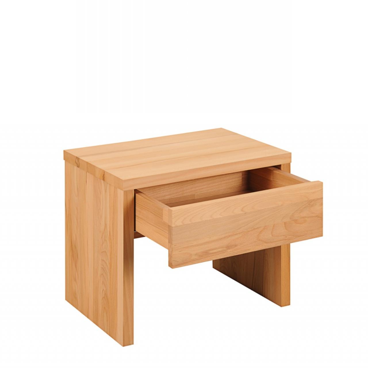nachtkonsole wildbuche massivholz 1 schubkasten m bel j hnichen center gmbh. Black Bedroom Furniture Sets. Home Design Ideas