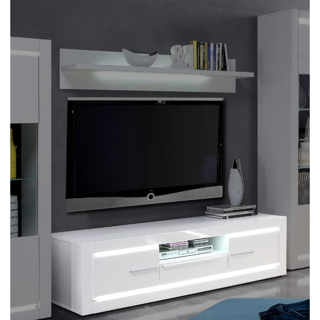 tv unterschrank l light wei lowboard led. Black Bedroom Furniture Sets. Home Design Ideas