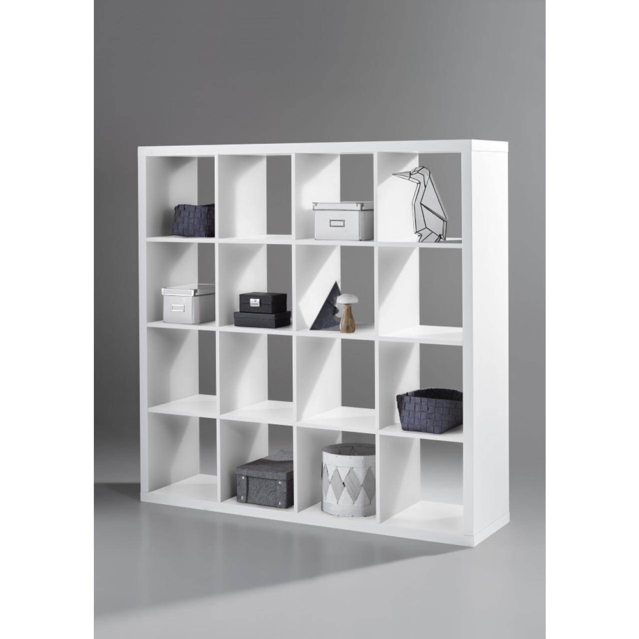 Raumteiler Style 136 weiß 16 Fächer Regal Standregal Raumtrenner Wohnzimmer