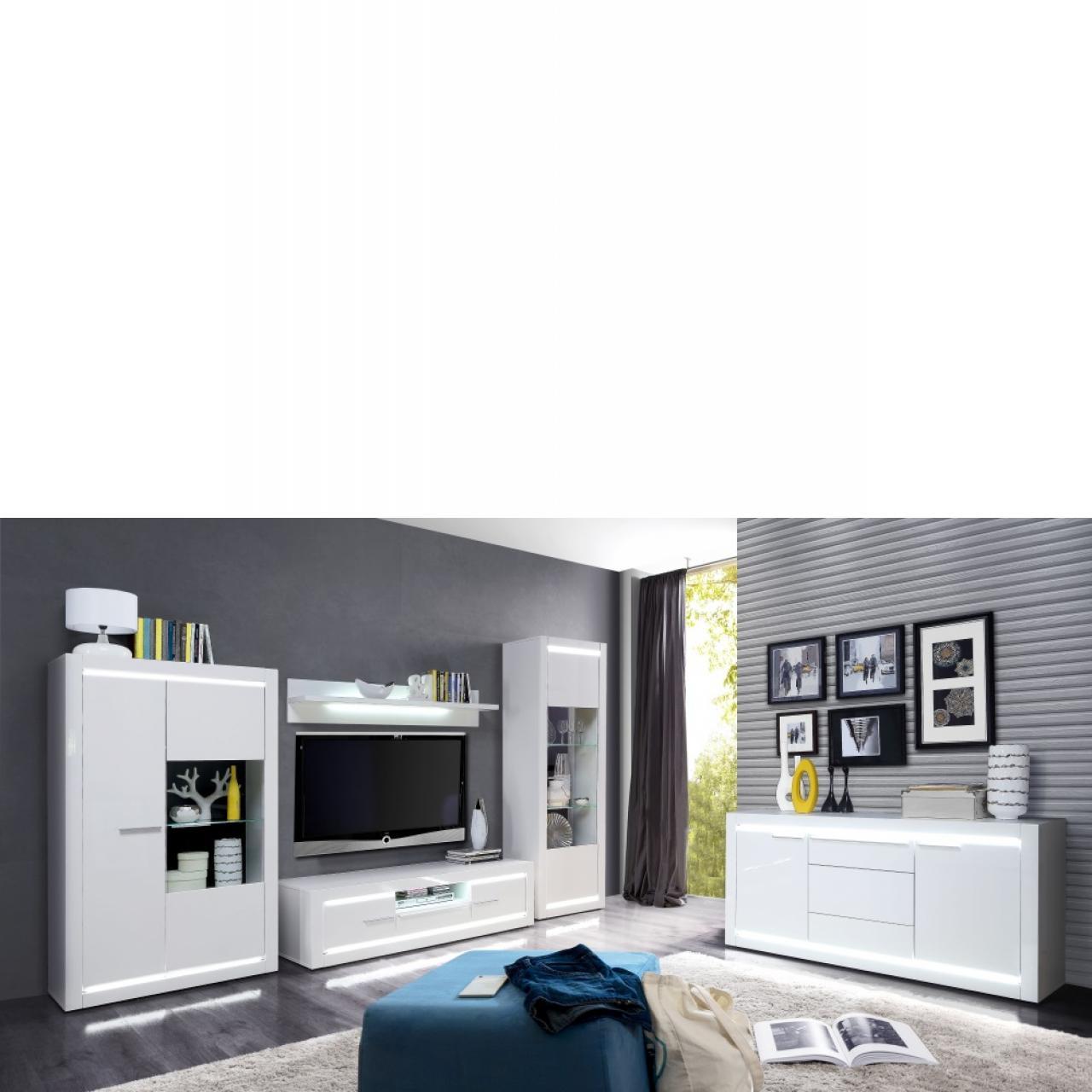 TV-Unterschrank - L-Light - weiß