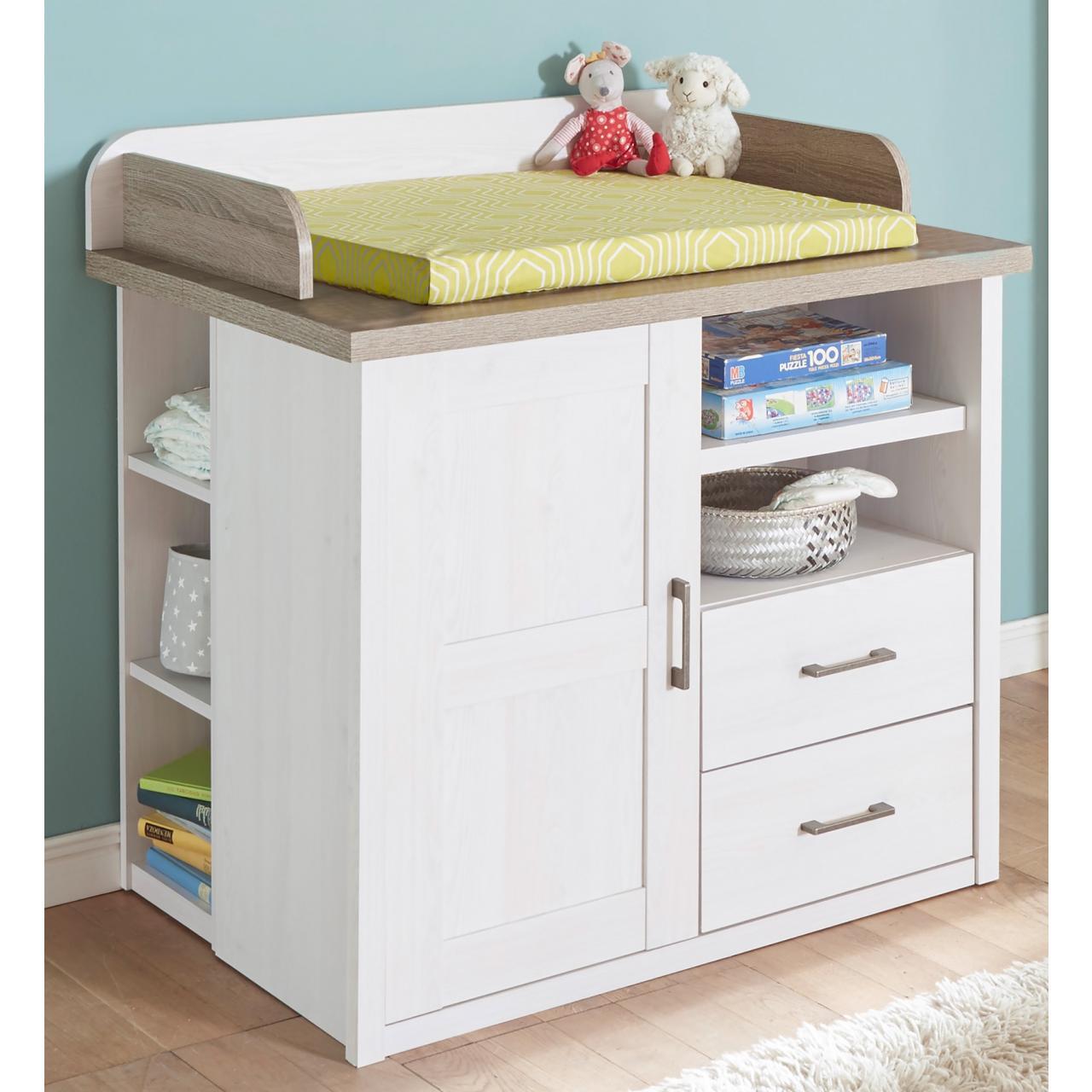 wickelkommode luca pinie wei tr ffel. Black Bedroom Furniture Sets. Home Design Ideas