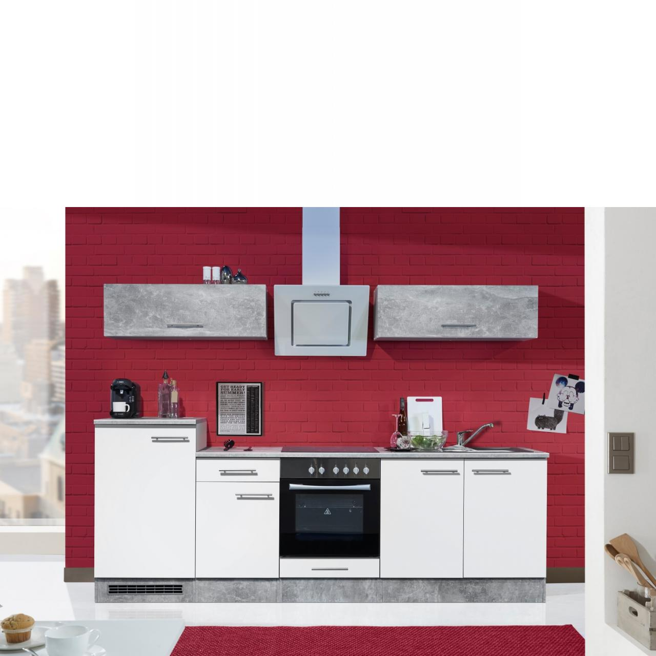 k che turn 3 wei beton k chenzeilen k chen m bel j hnichen center gmbh. Black Bedroom Furniture Sets. Home Design Ideas