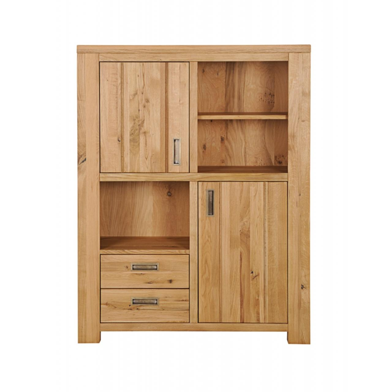 Highboard Meran Massivholz Wildeiche