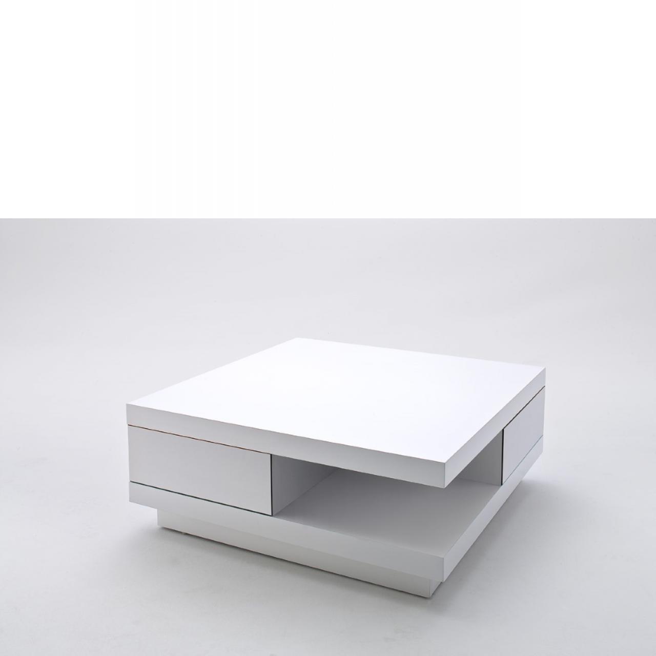 Couchtisch Abby in Weiß 85x85