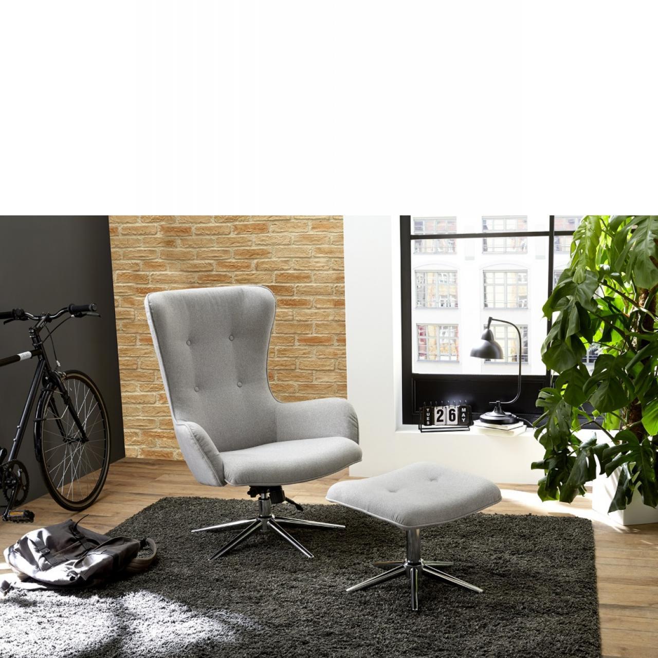 Relaxsessel - Roberta 2 + Hocker - grau | Sessel | Polstermöbel ...