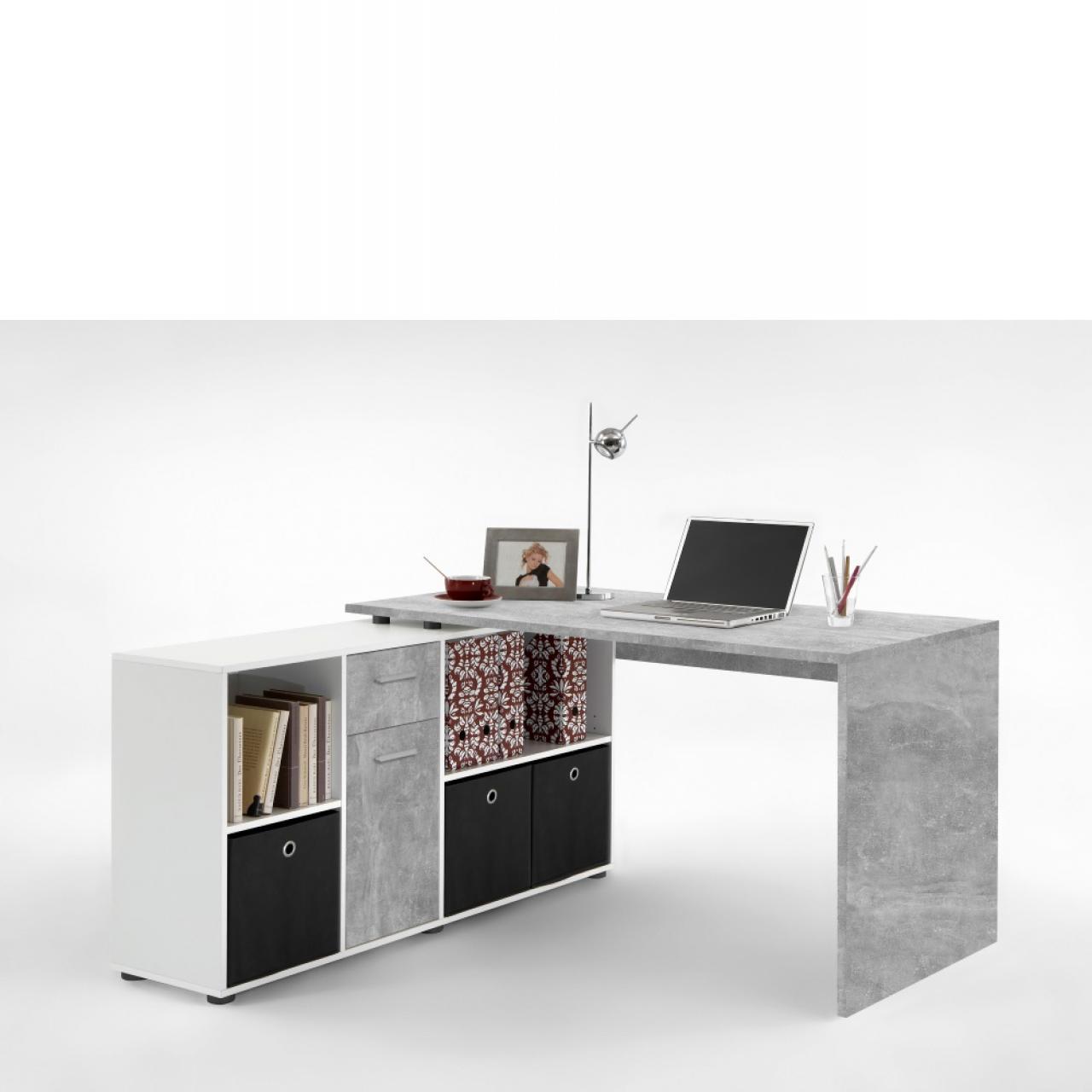 Schreibtisch Lex 1 - Light Atelier, weiß