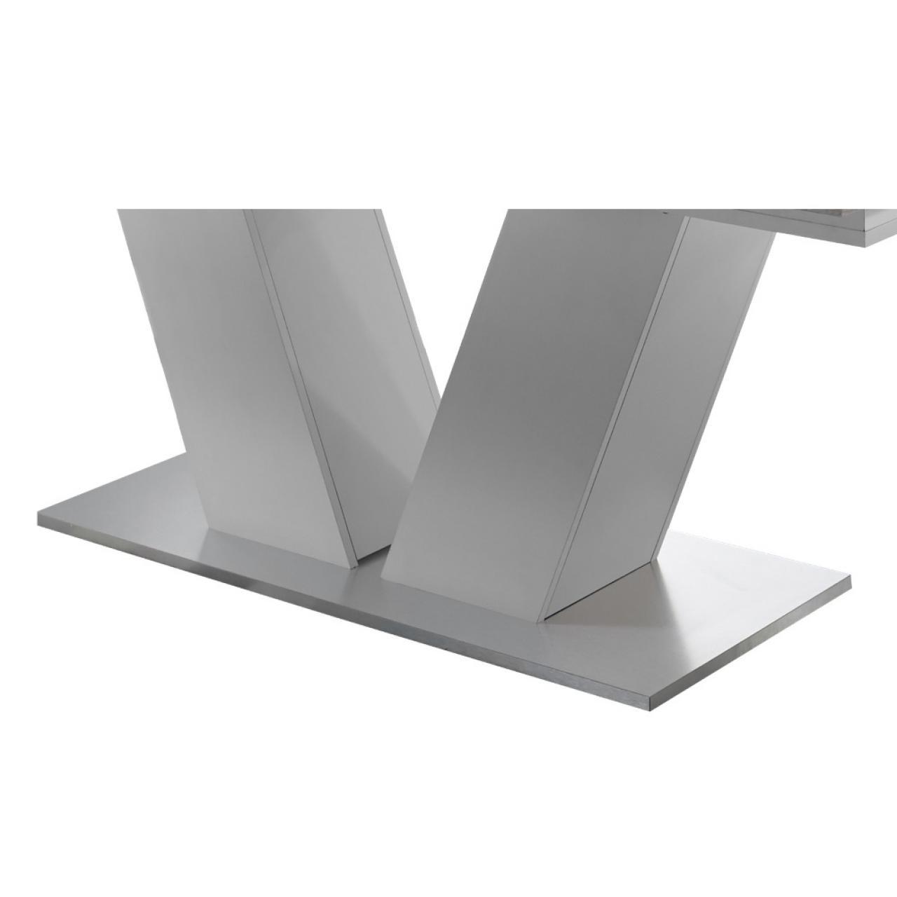 Esstisch Komfort Weiß Beton