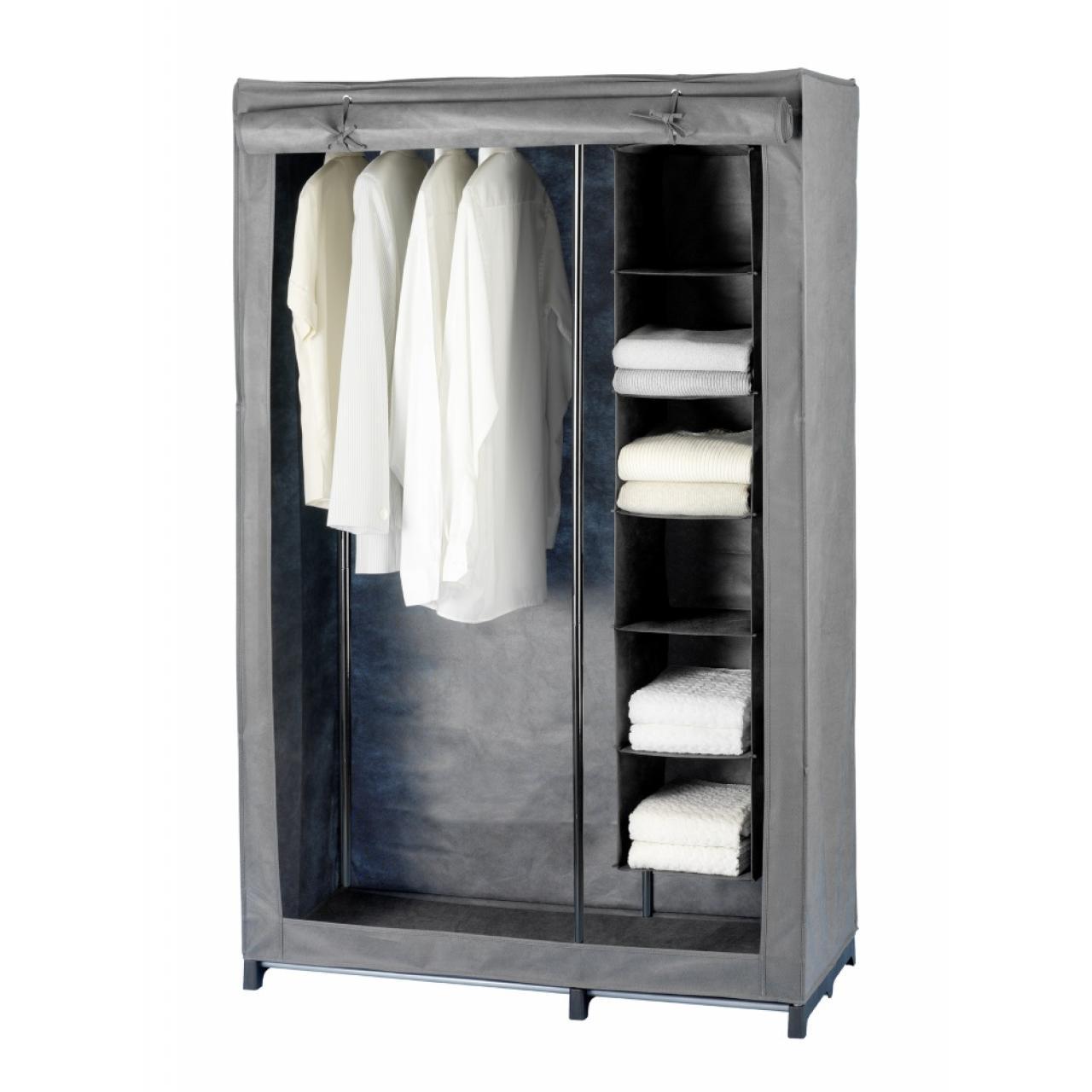 Kleiderschrank - Liberta - grau