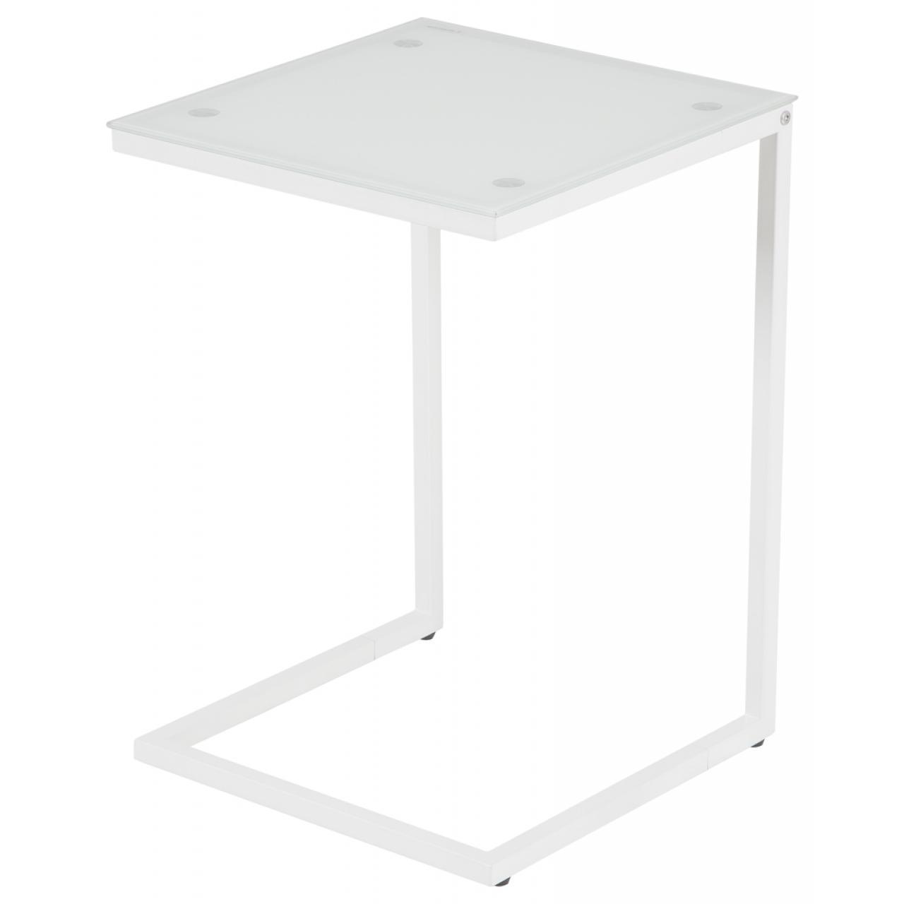 Beistelltisch Denise Weiß Beton Telefontisch Glas 1 Ablage Couchtisch Tisch